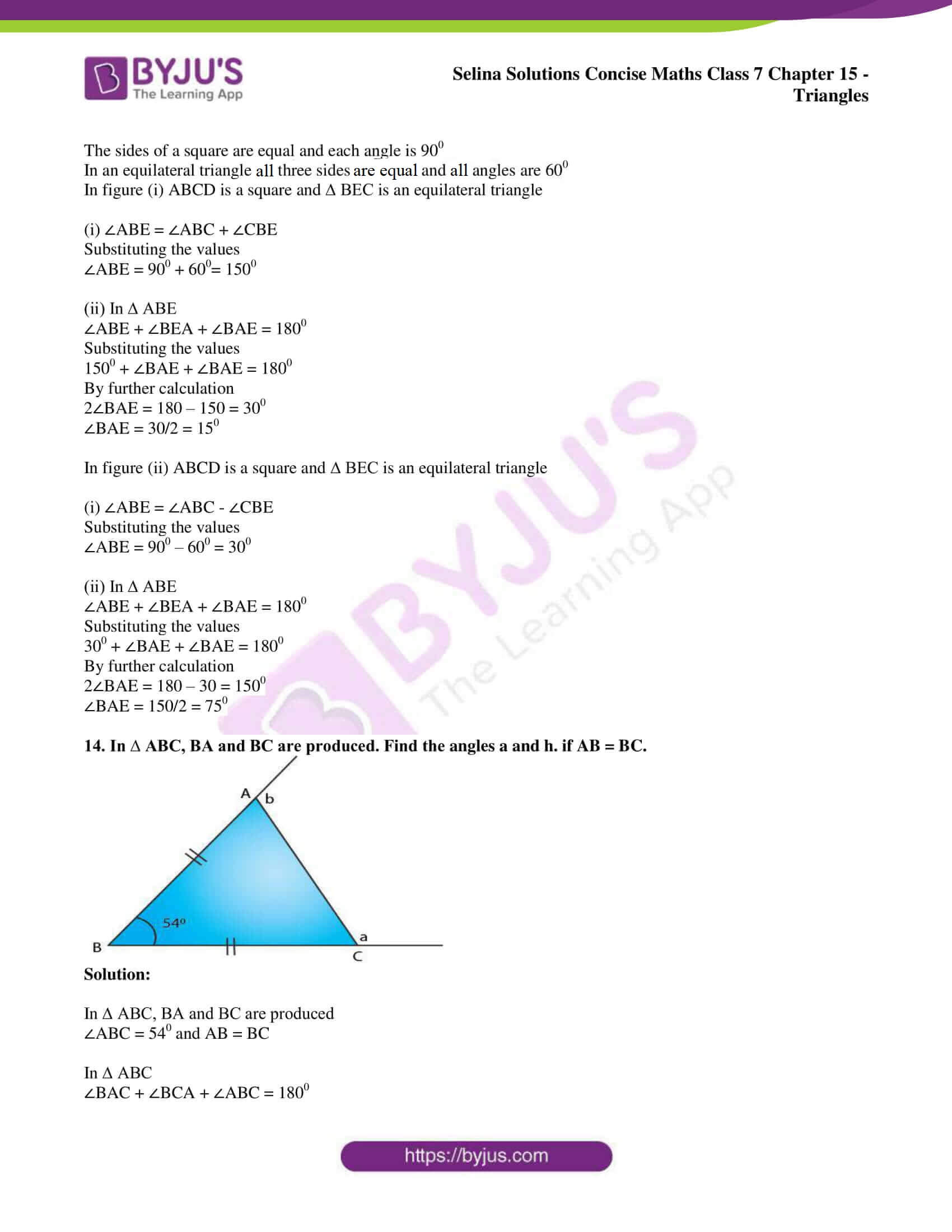 selina sol concise maths class 7 chapter 15 ex b 12