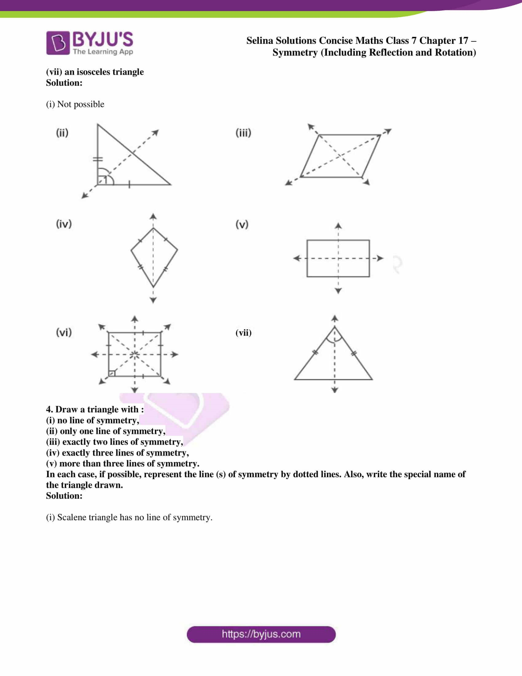 selina sol concise maths class 7 chapter 17 ex a 3
