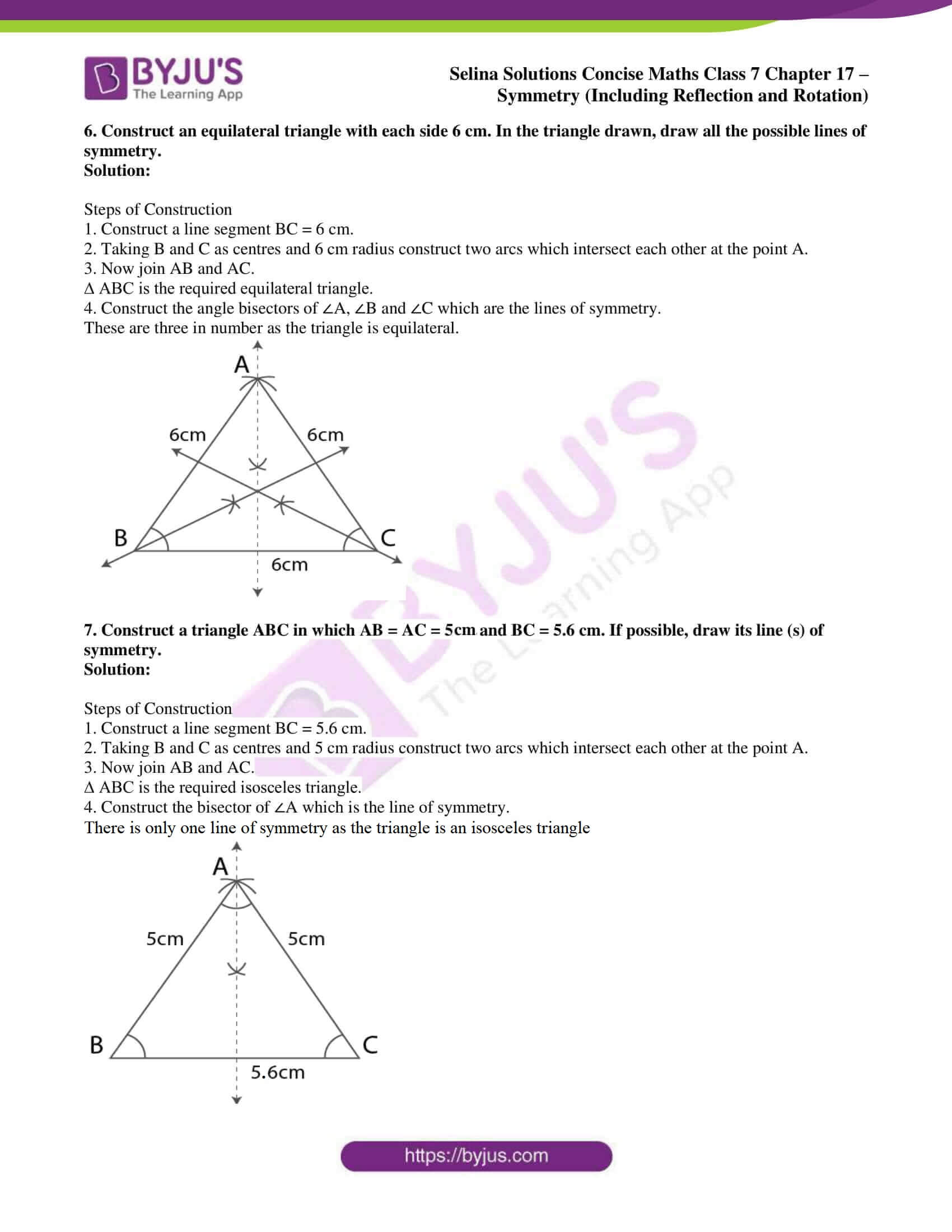 selina sol concise maths class 7 chapter 17 ex a 6
