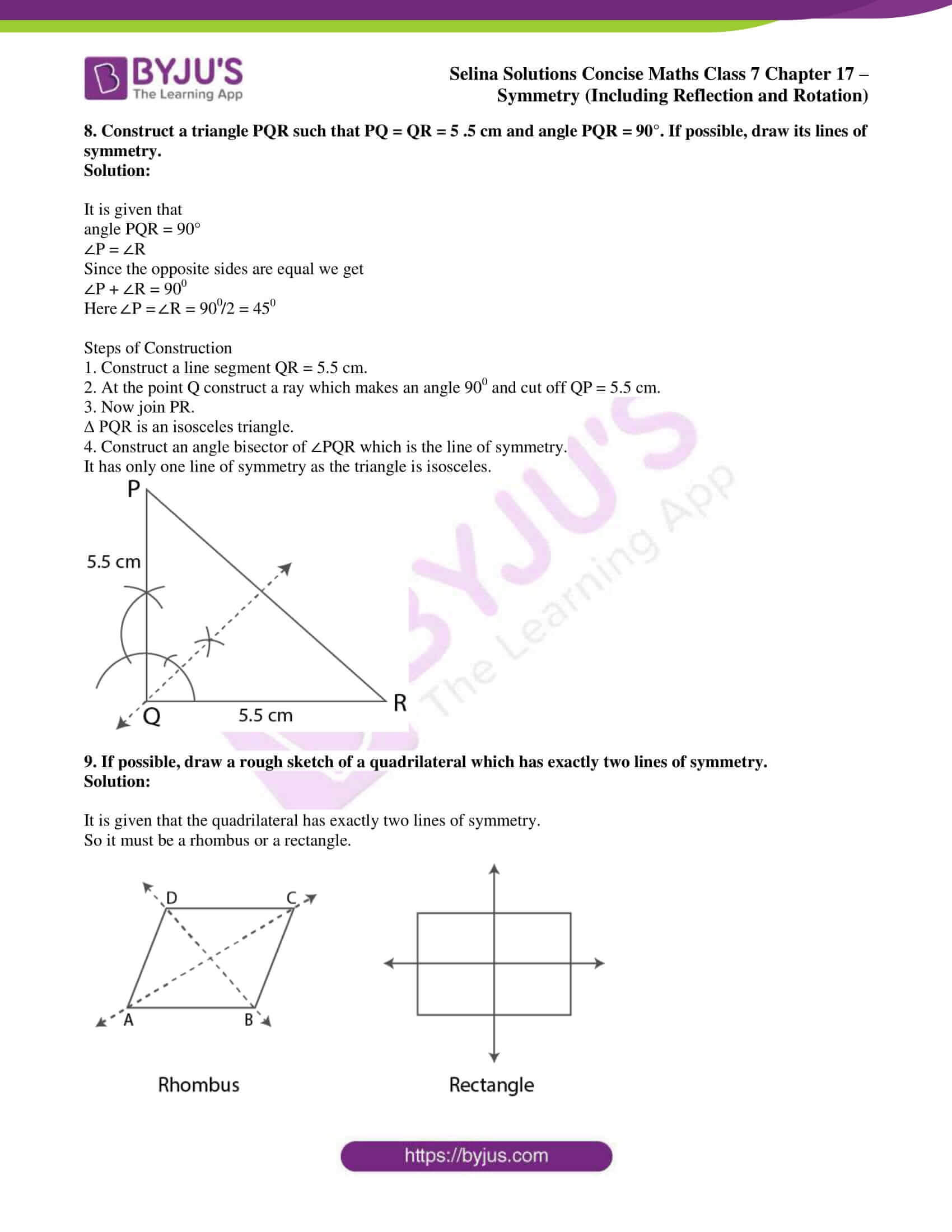 selina sol concise maths class 7 chapter 17 ex a 7