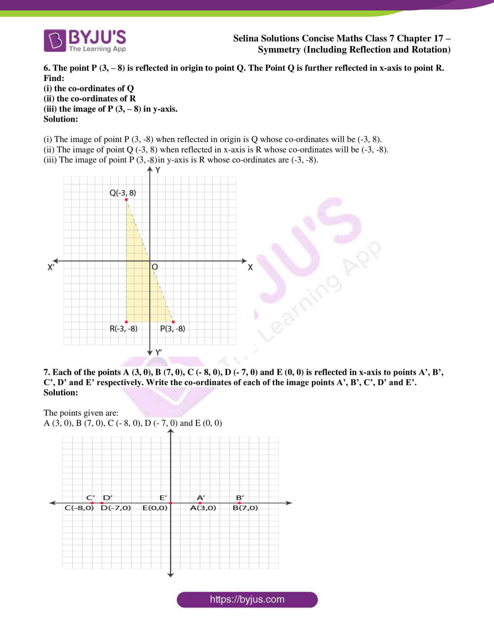 selina sol concise maths class 7 chapter 17 ex b 5
