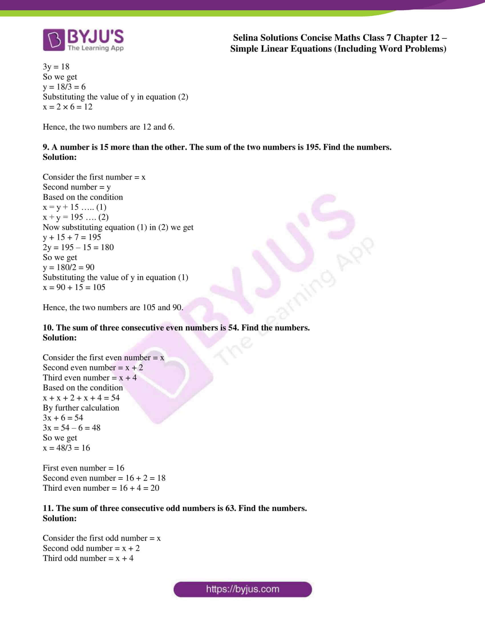 selina solution concise maths class 7 ch 12d 3