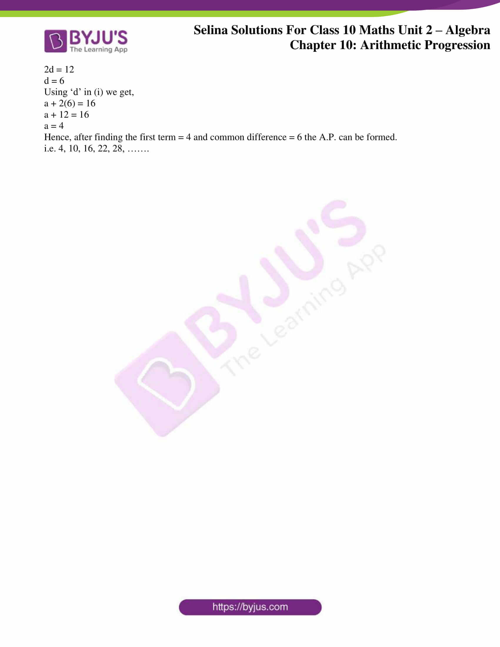 selina solution concise maths class 10 chapter 10 ex b 4