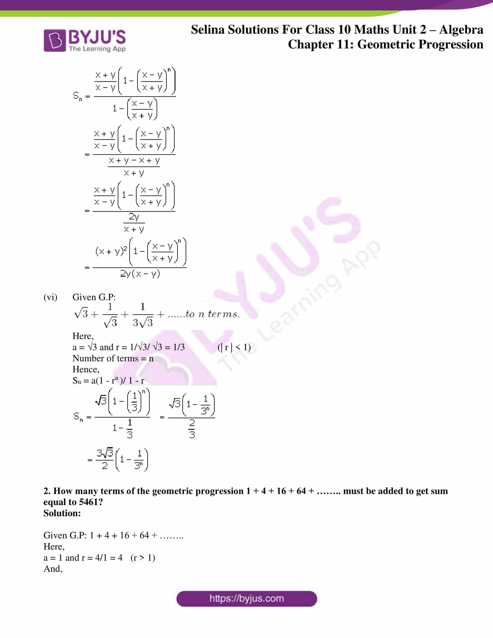 selina solution concise maths class 10 chapter 11 ex d 3