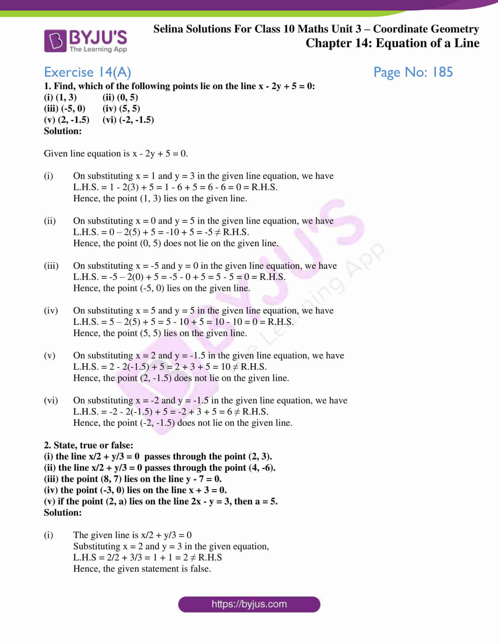 selina solution concise maths class 10 chapter 14 ex a 1