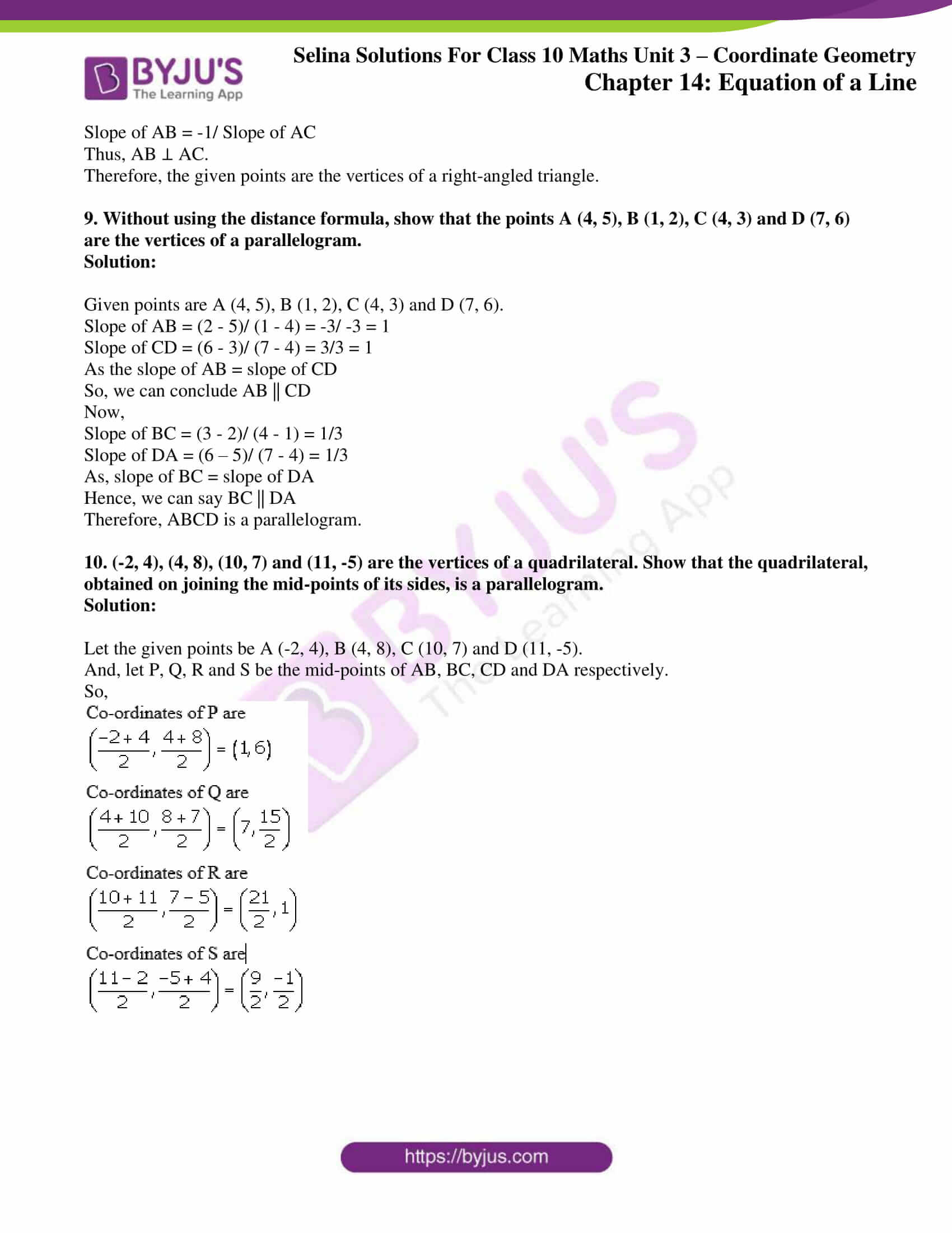 selina solution concise maths class 10 chapter 14 ex b 3