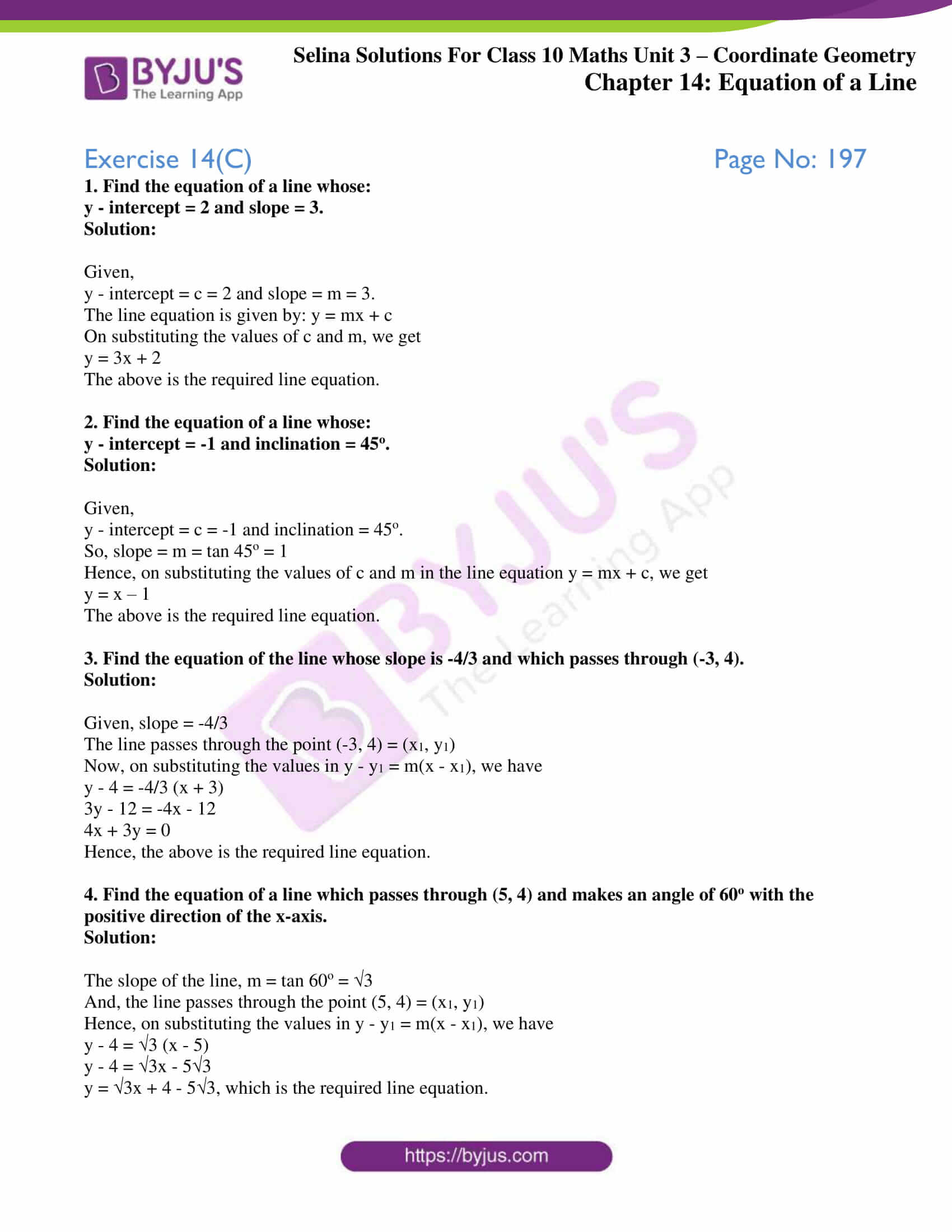 selina solution concise maths class 10 chapter 14 ex c 1