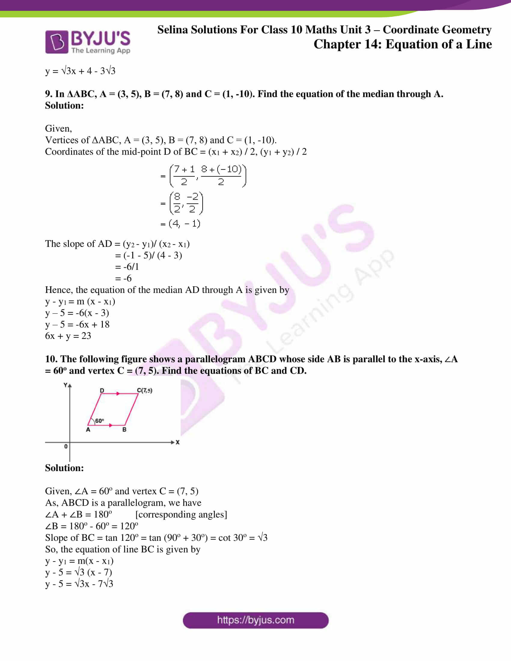 selina solution concise maths class 10 chapter 14 ex c 4