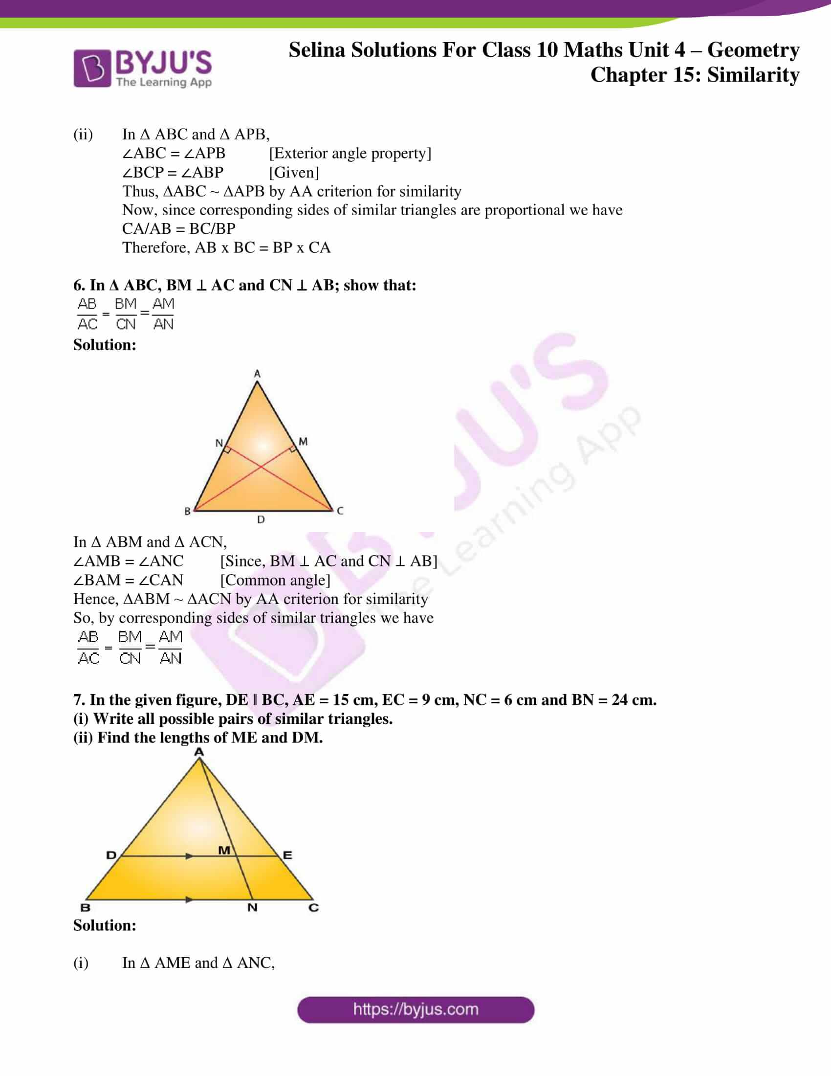 selina solution concise maths class 10 chapter 15 ex a 4
