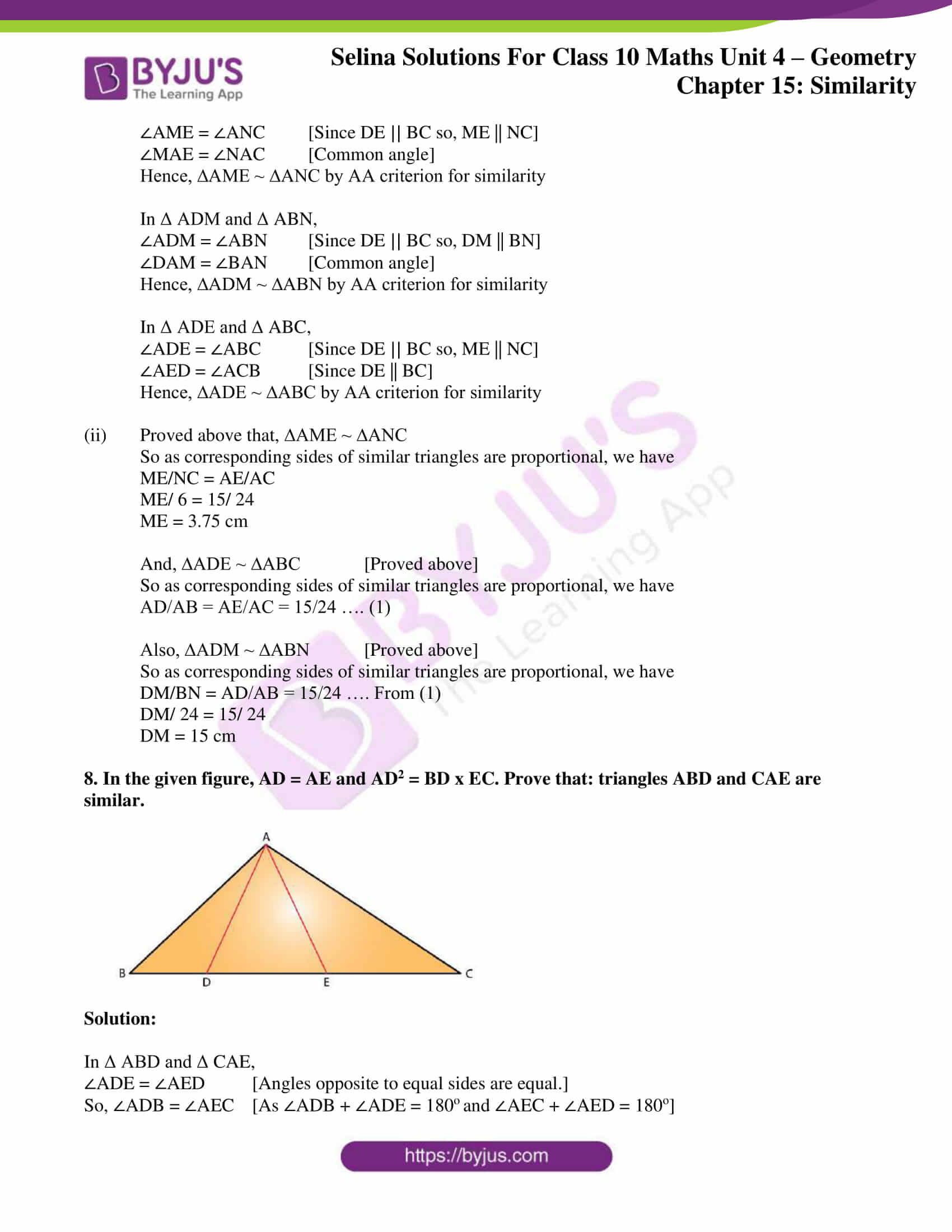 selina solution concise maths class 10 chapter 15 ex a 5