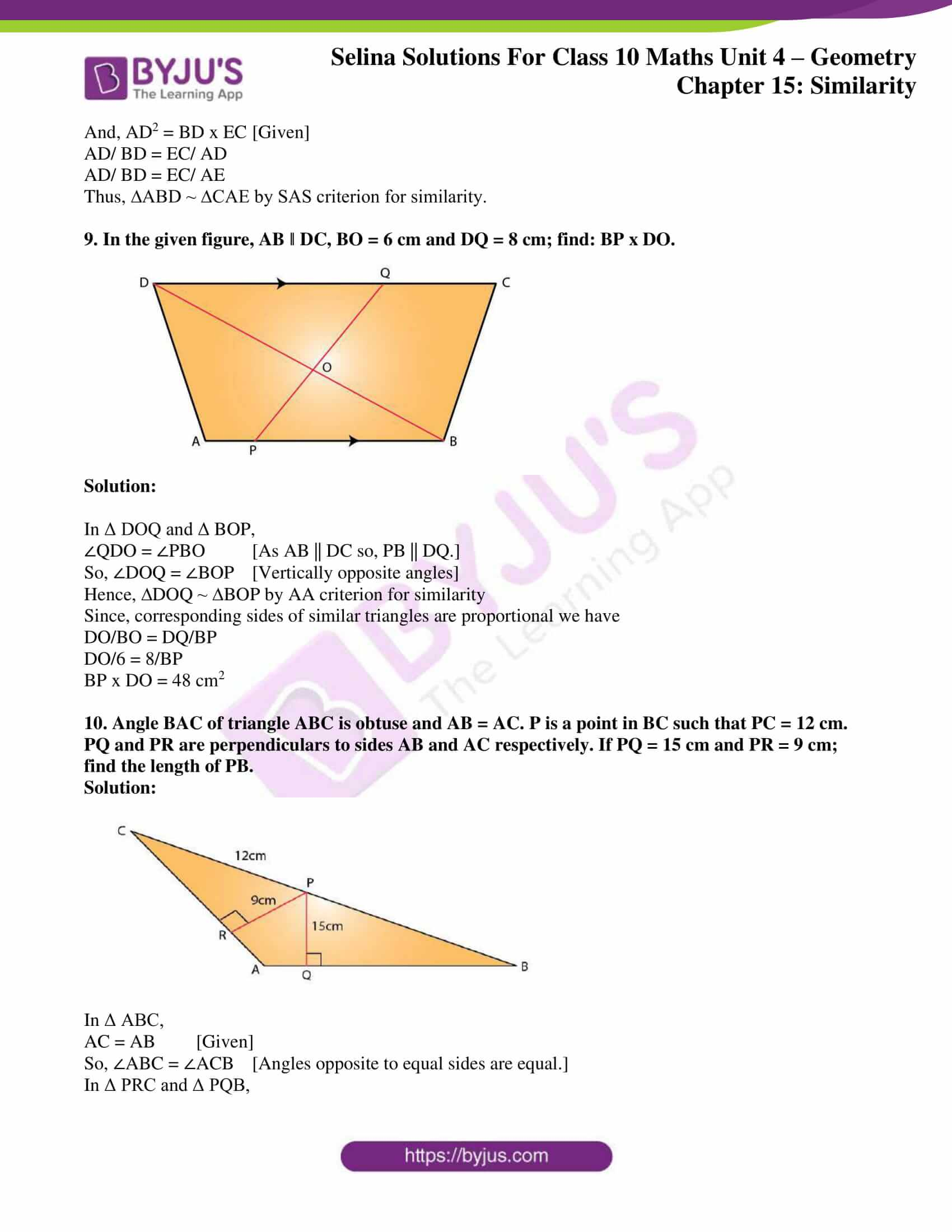 selina solution concise maths class 10 chapter 15 ex a 6