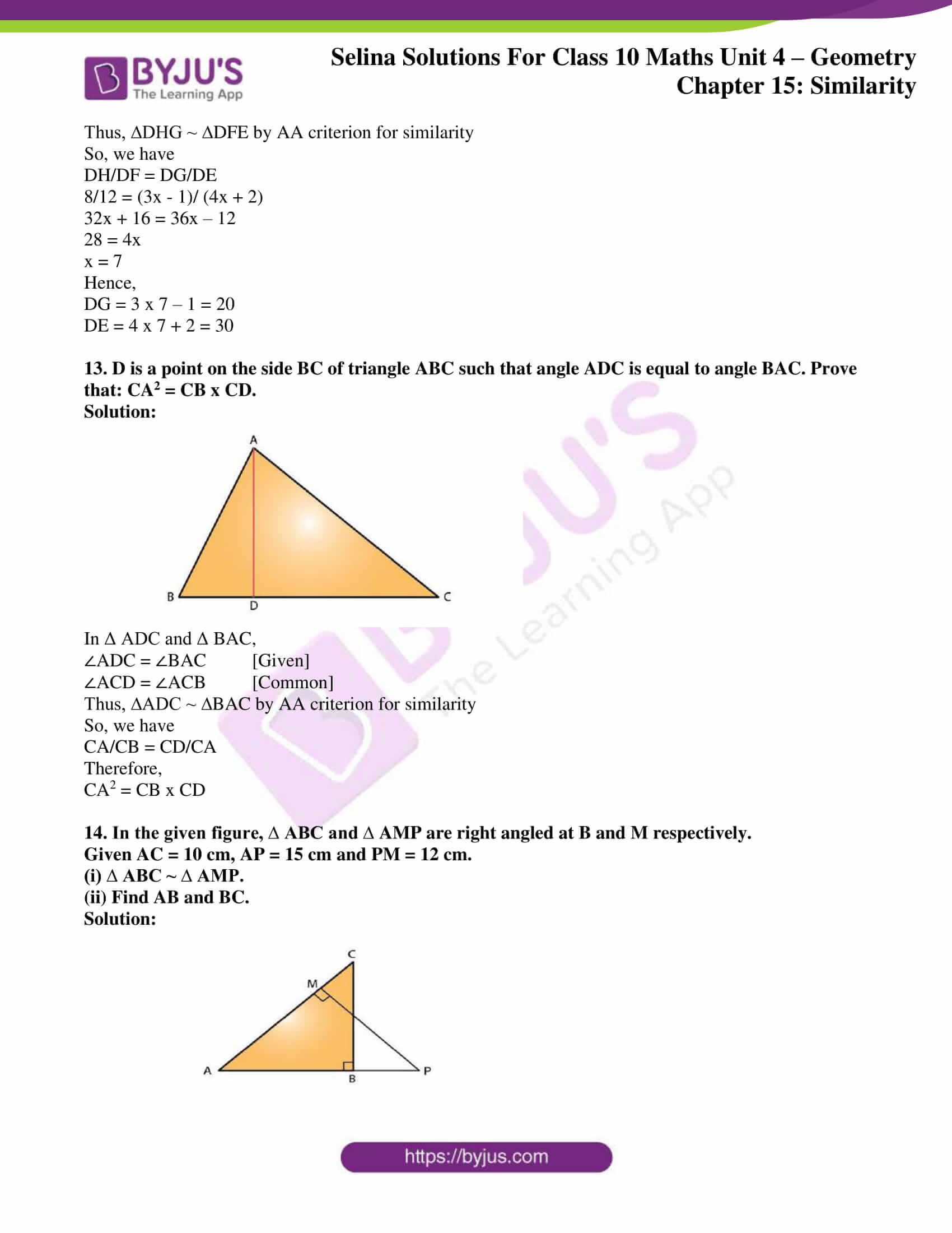 selina solution concise maths class 10 chapter 15 ex a 8