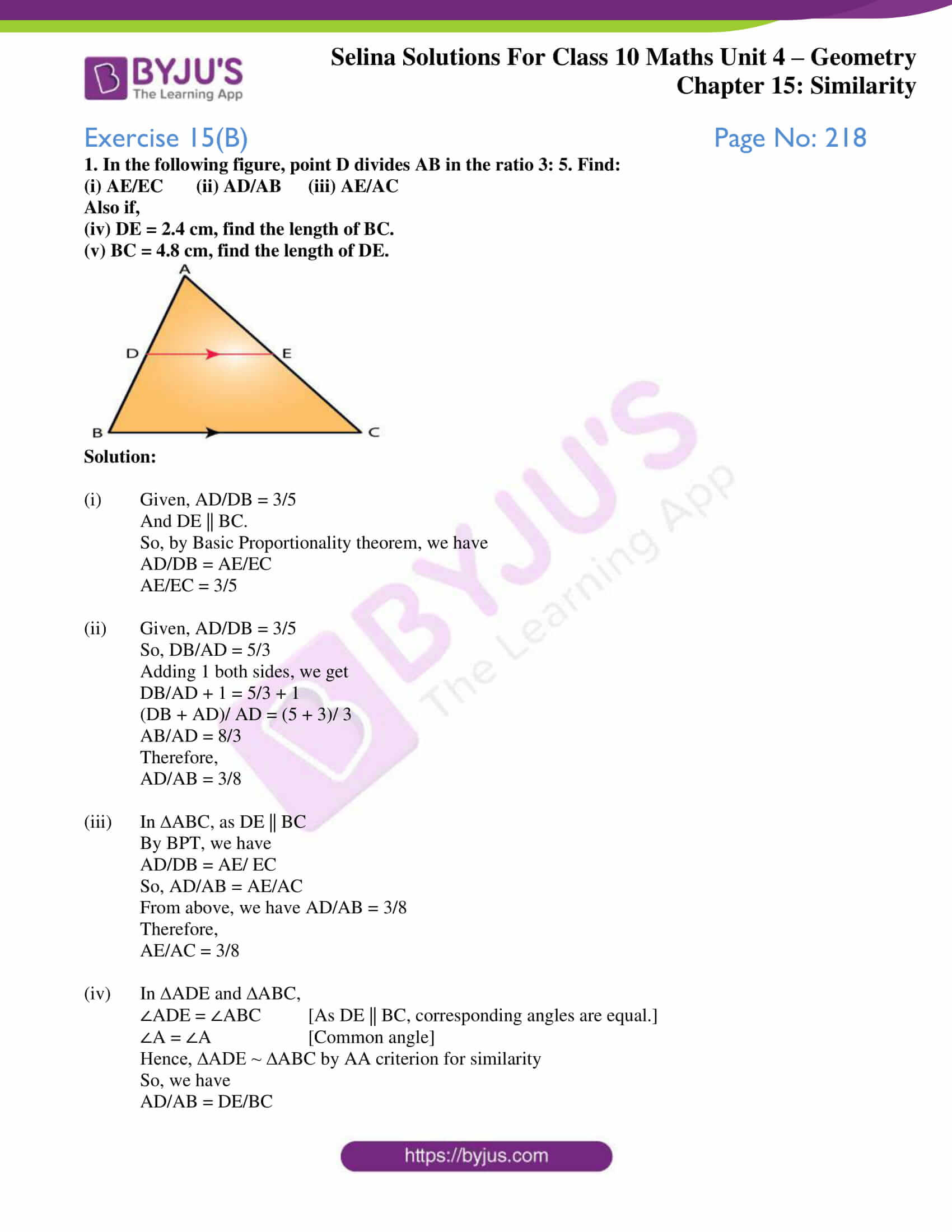 selina solution concise maths class 10 chapter 15 ex b 1