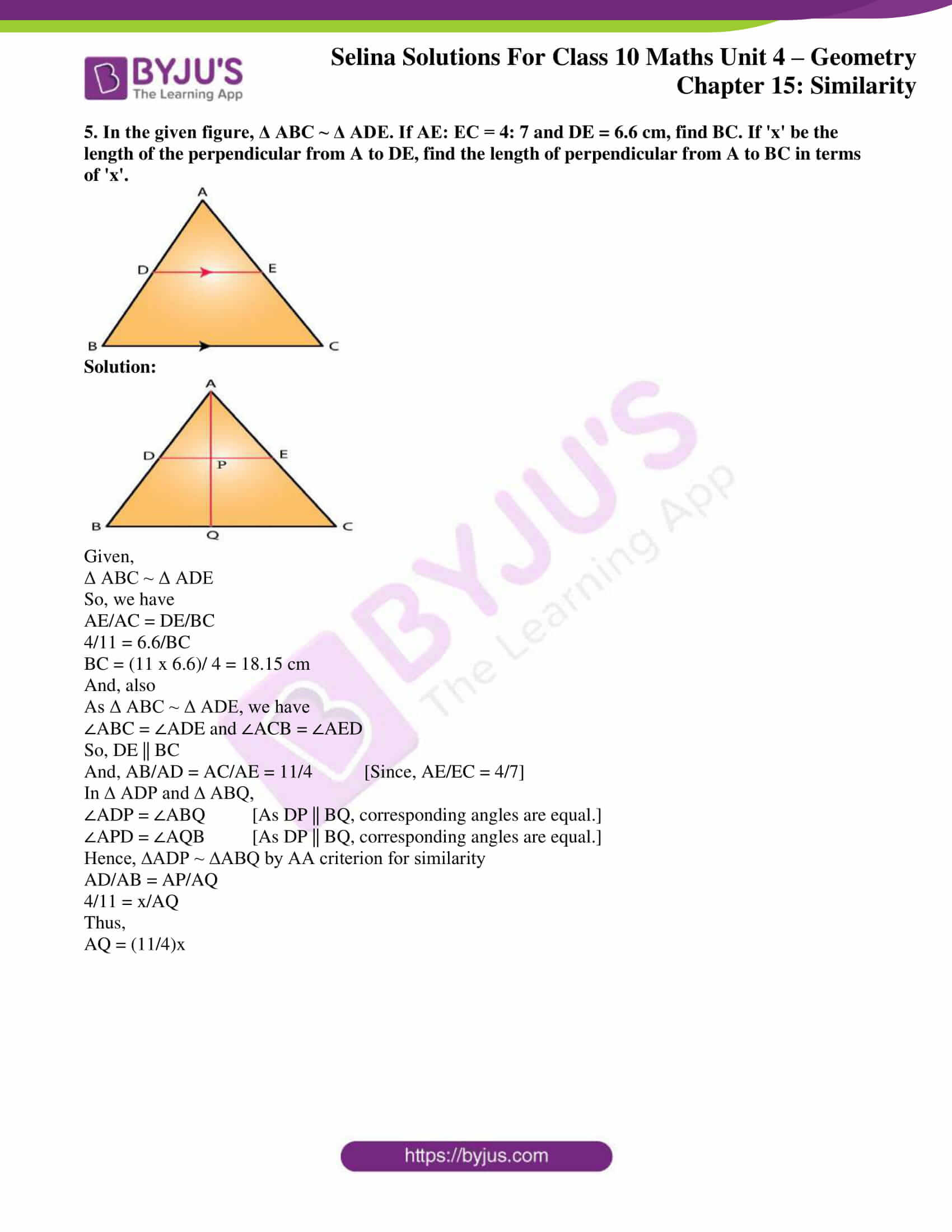 selina solution concise maths class 10 chapter 15 ex b 4