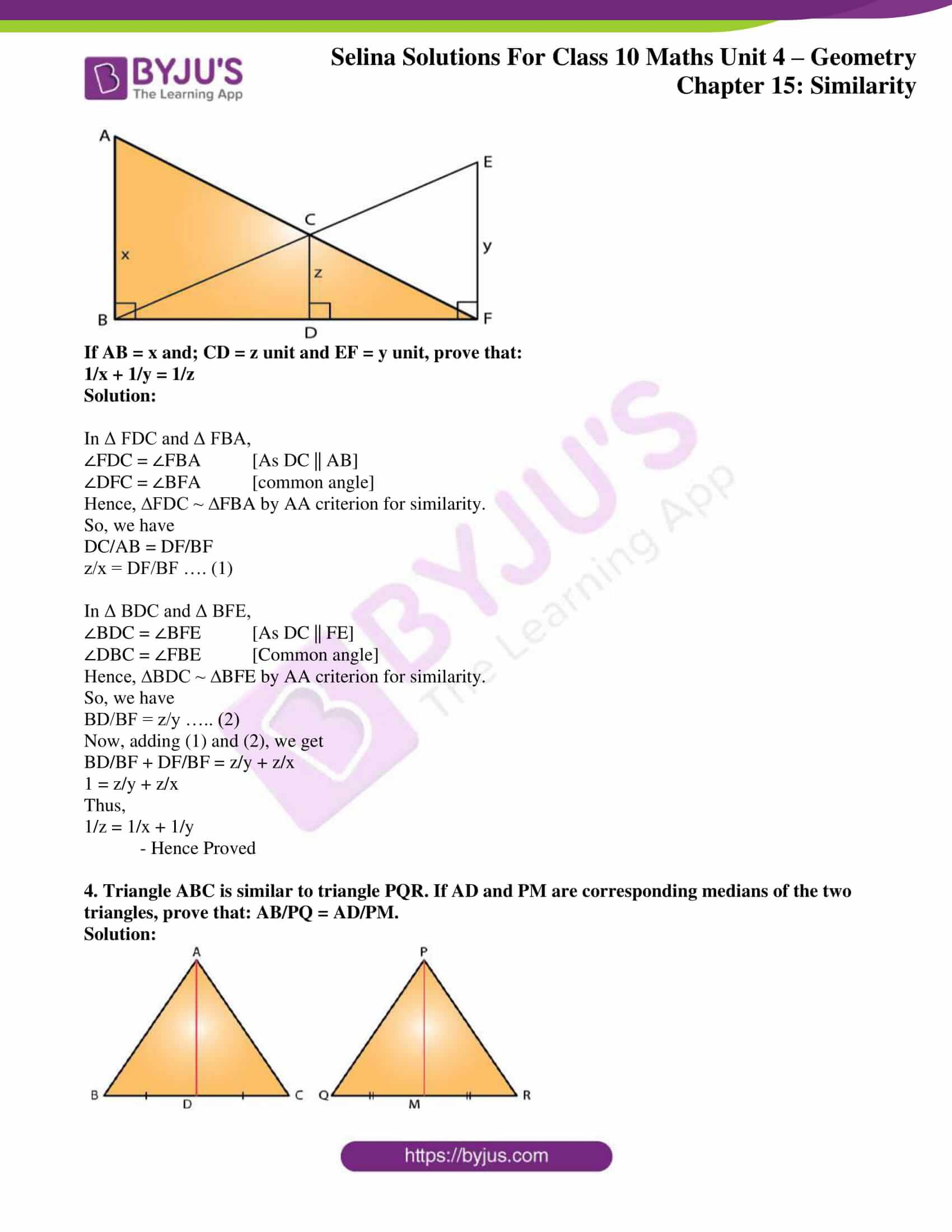 selina solution concise maths class 10 chapter 15 ex e 03