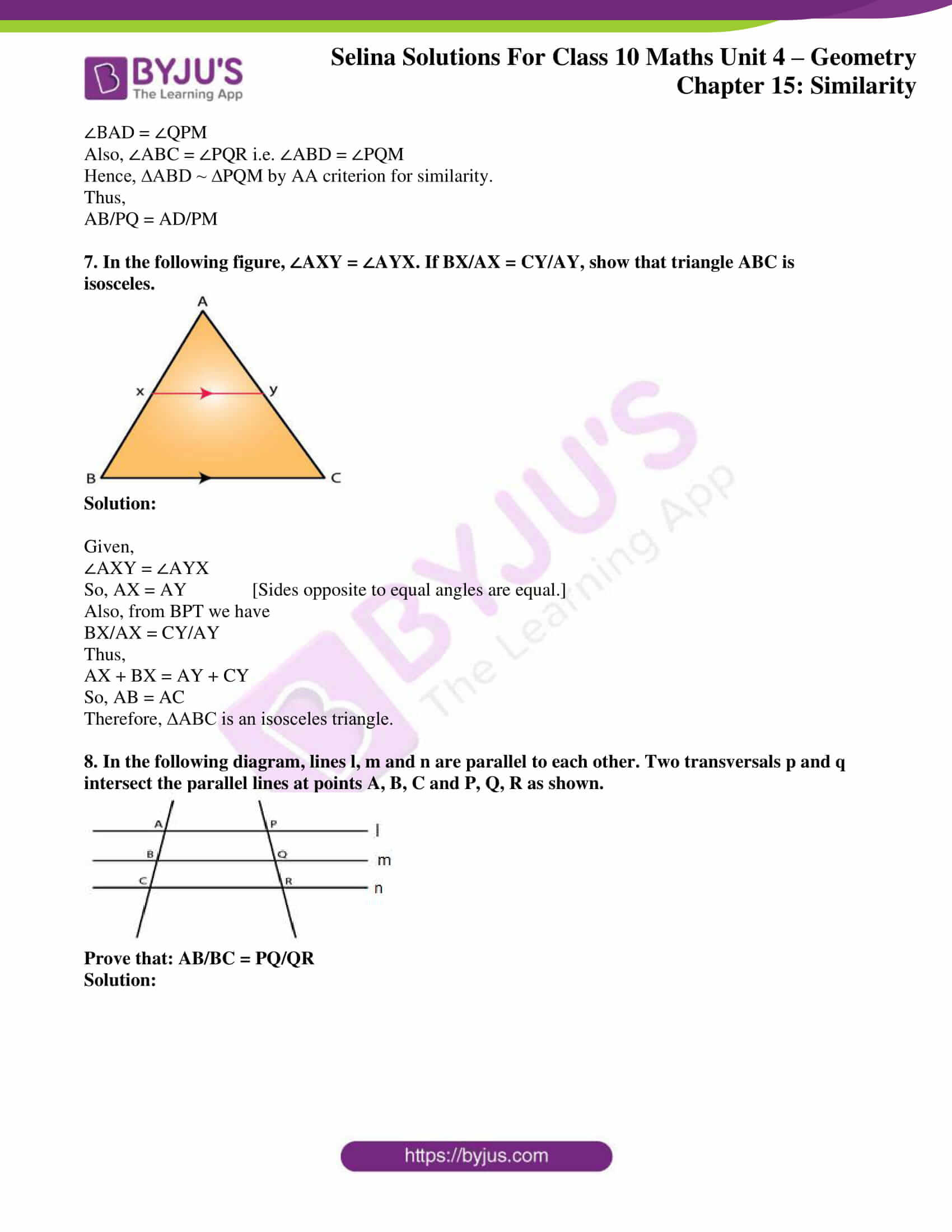 selina solution concise maths class 10 chapter 15 ex e 05