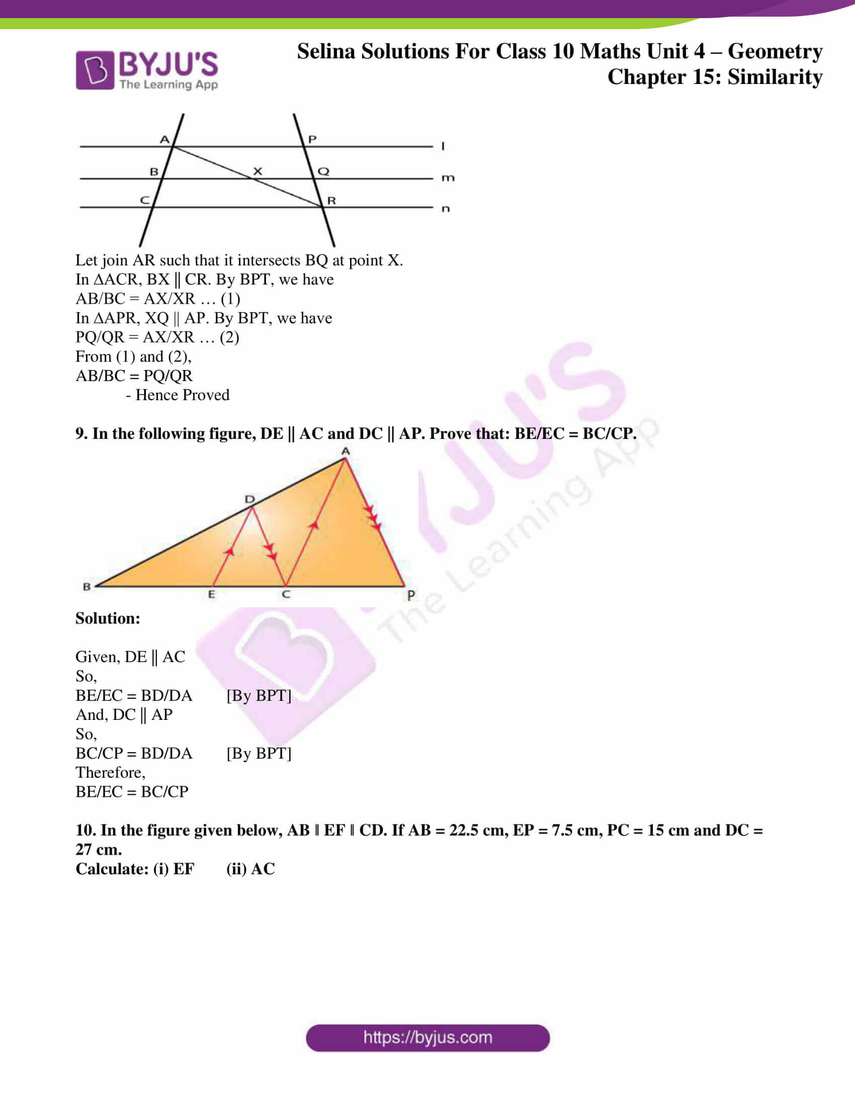 selina solution concise maths class 10 chapter 15 ex e 06
