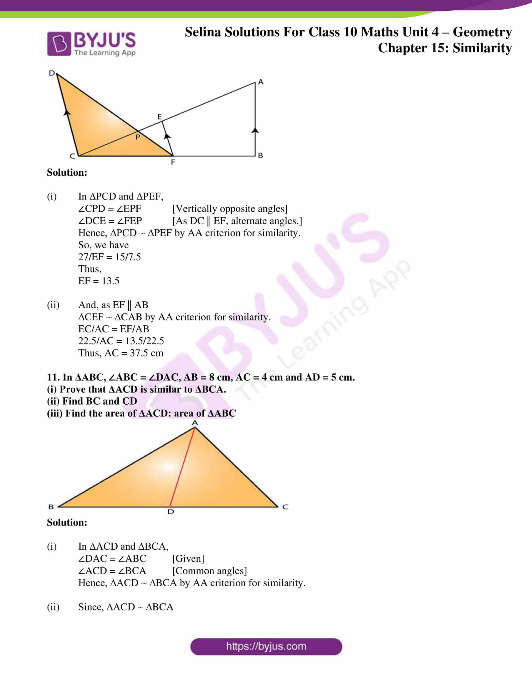 selina solution concise maths class 10 chapter 15 ex e 07