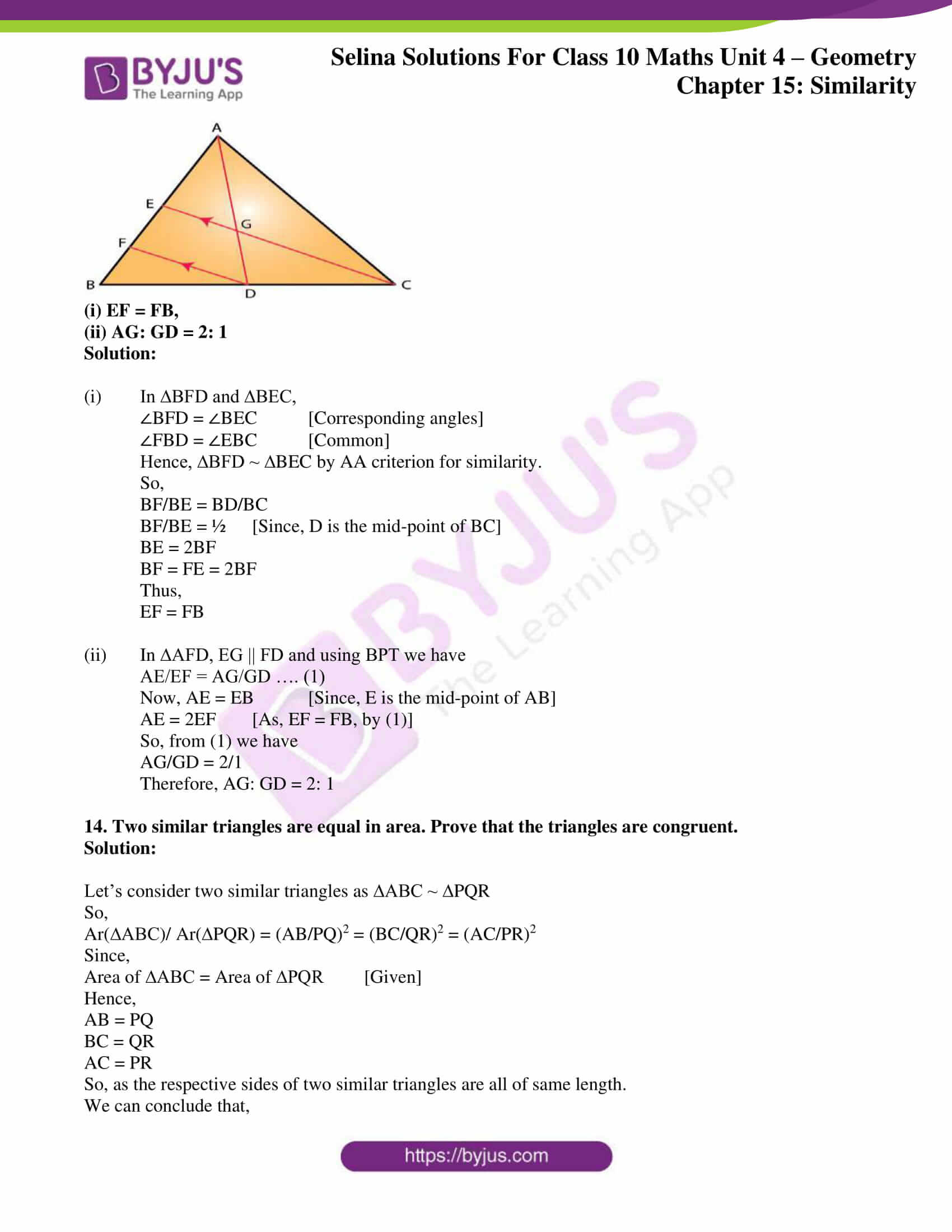 selina solution concise maths class 10 chapter 15 ex e 09