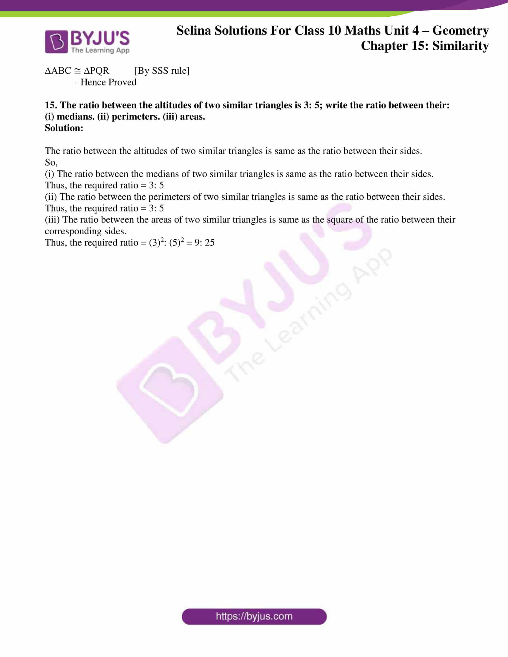 selina solution concise maths class 10 chapter 15 ex e 10