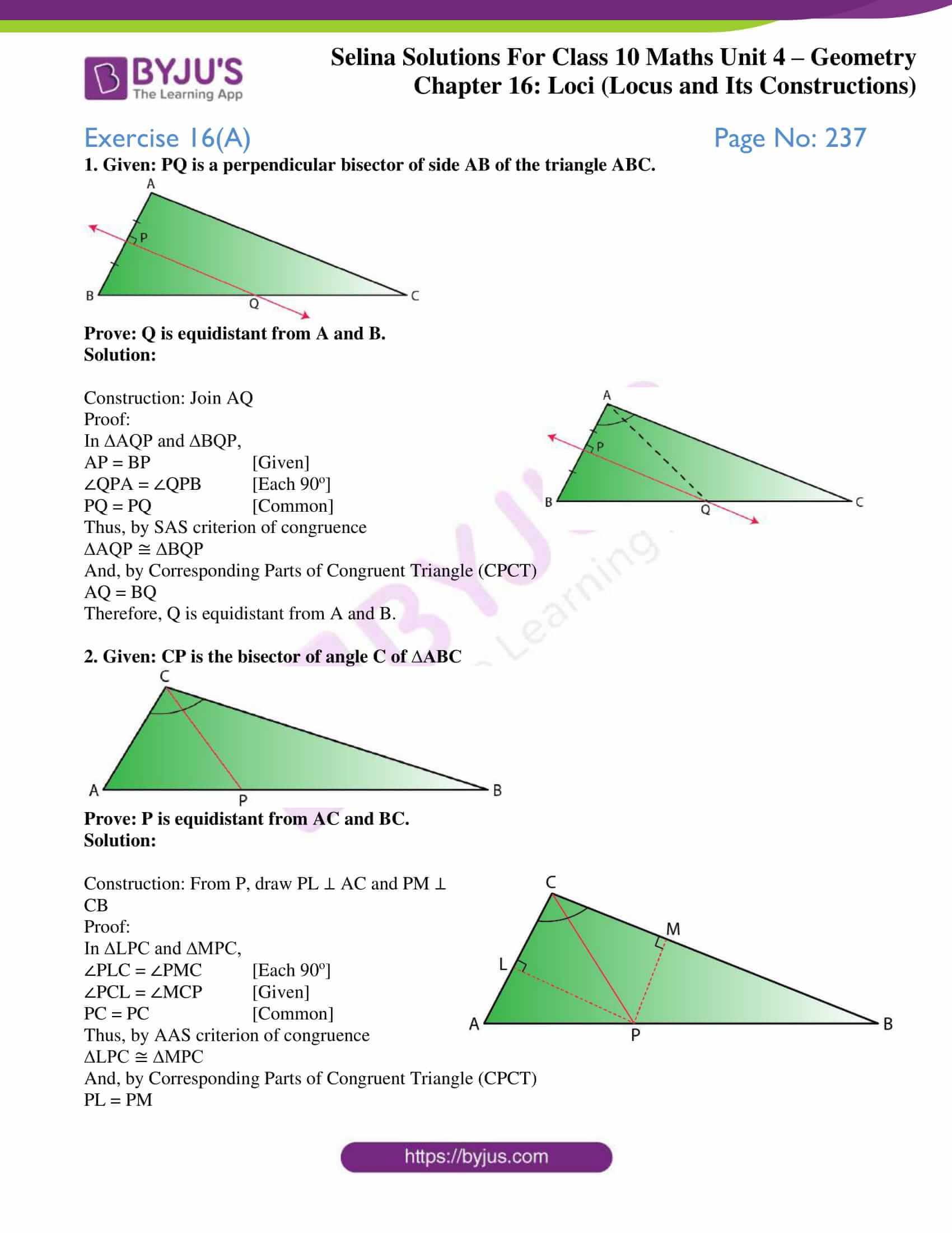 selina solution concise maths class 10 chapter 16 ex a 1