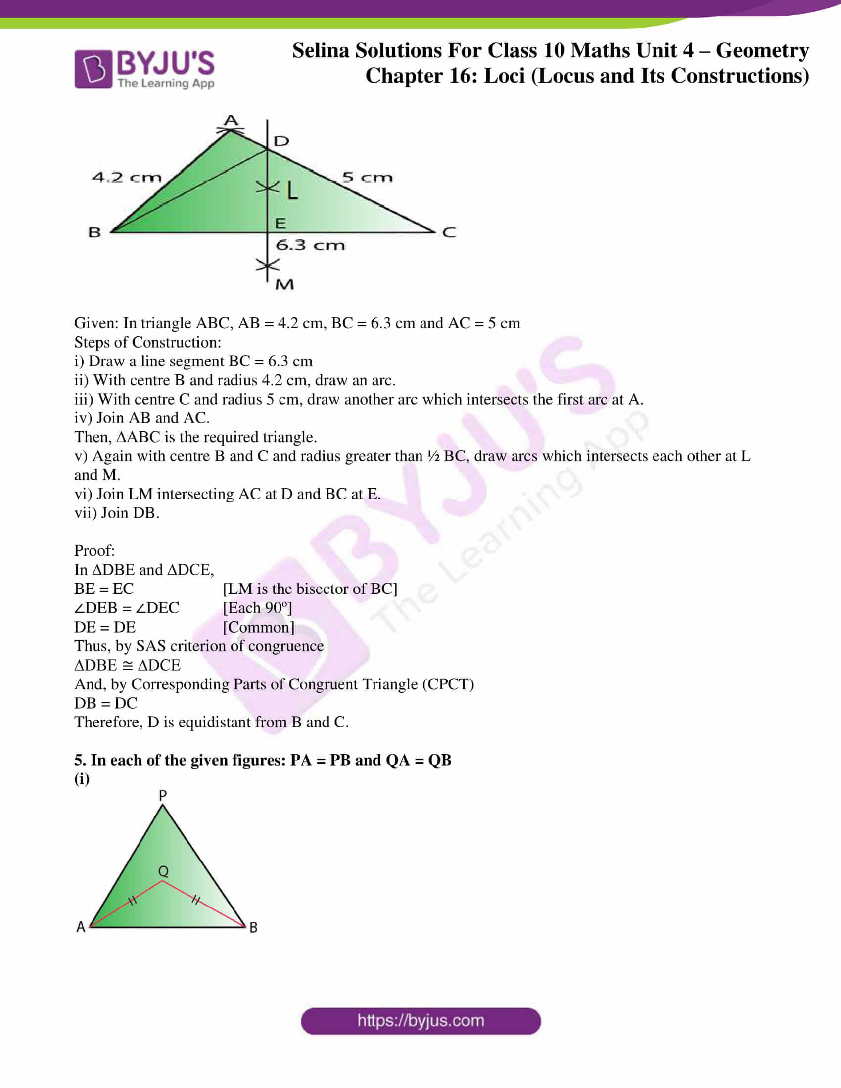 selina solution concise maths class 10 chapter 16 ex a 3