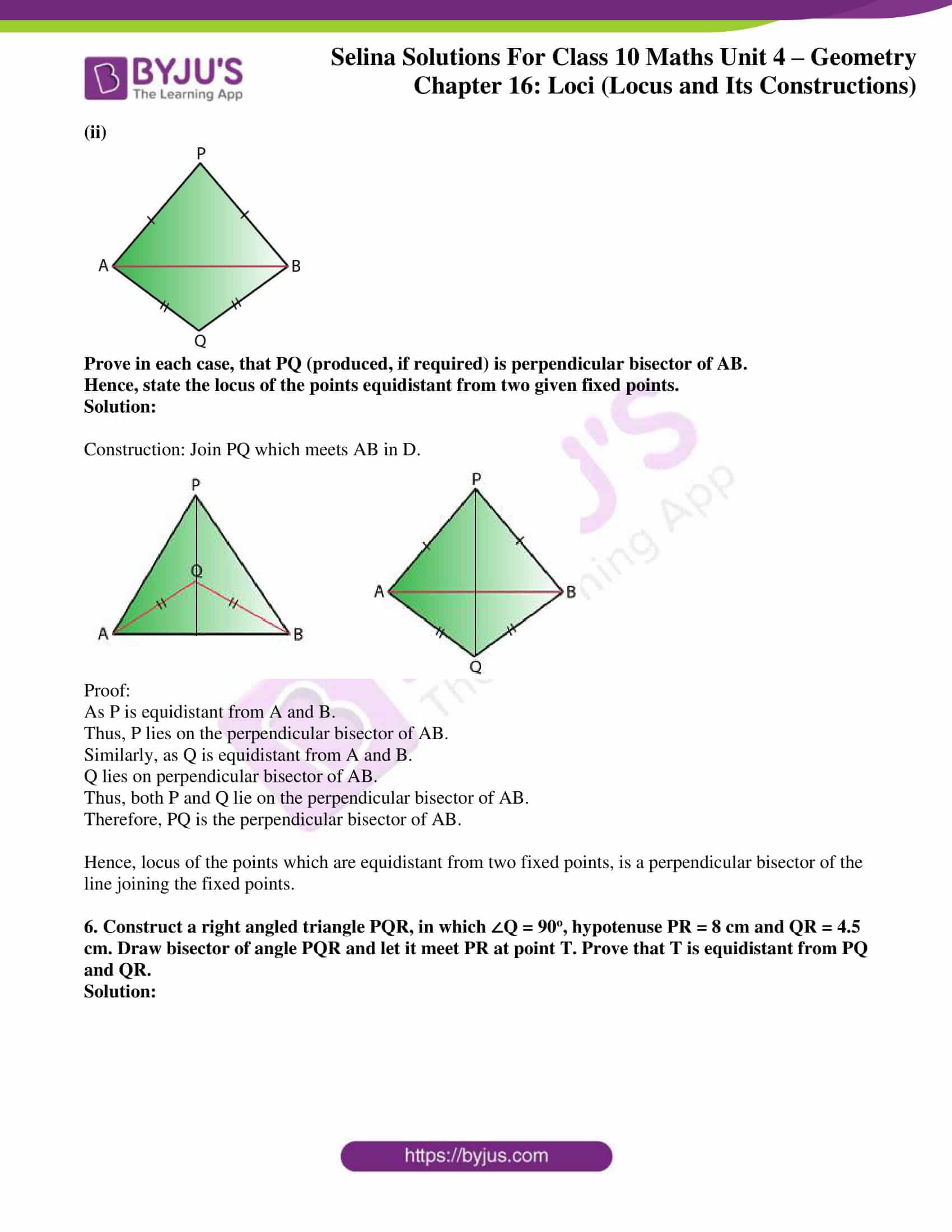 selina solution concise maths class 10 chapter 16 ex a 4