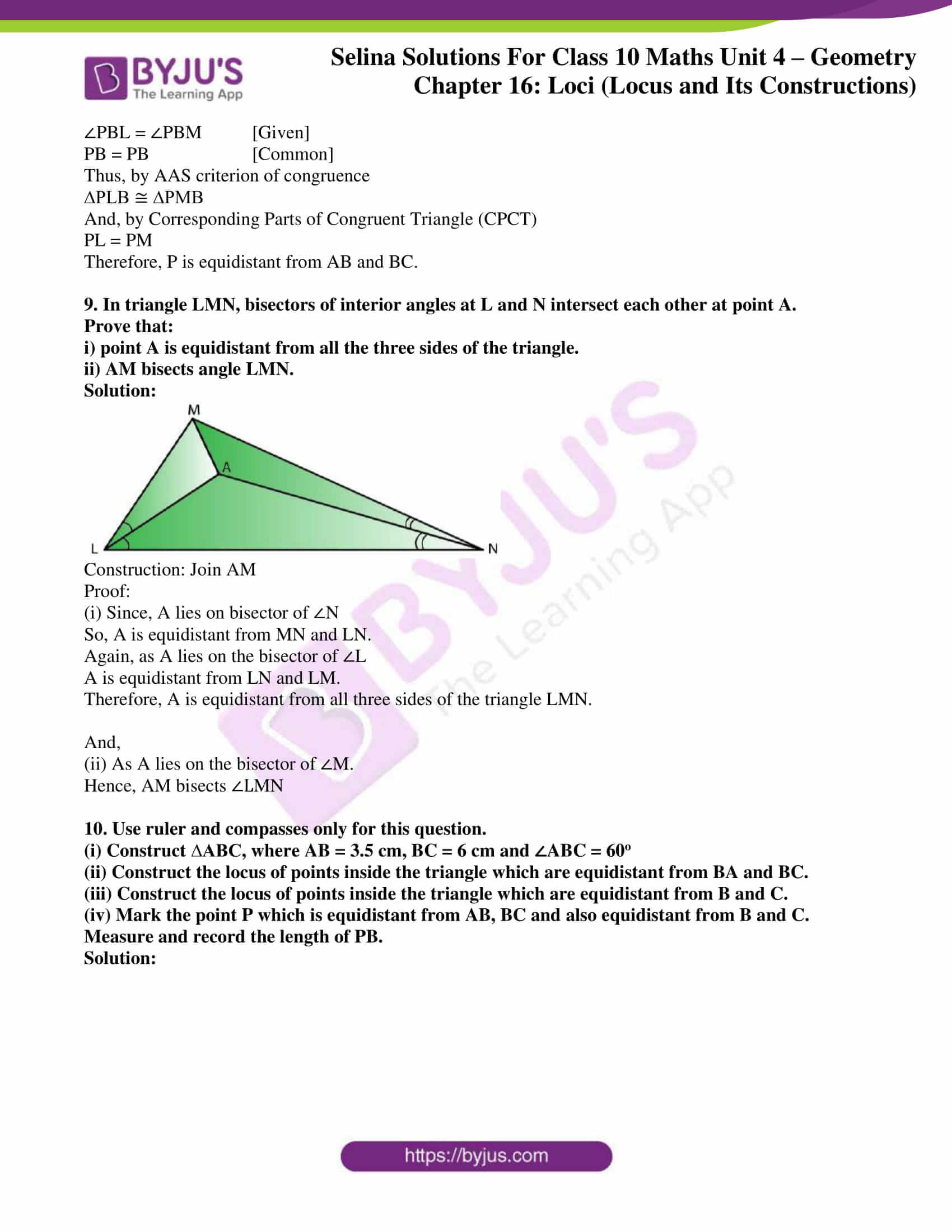 selina solution concise maths class 10 chapter 16 ex a 7
