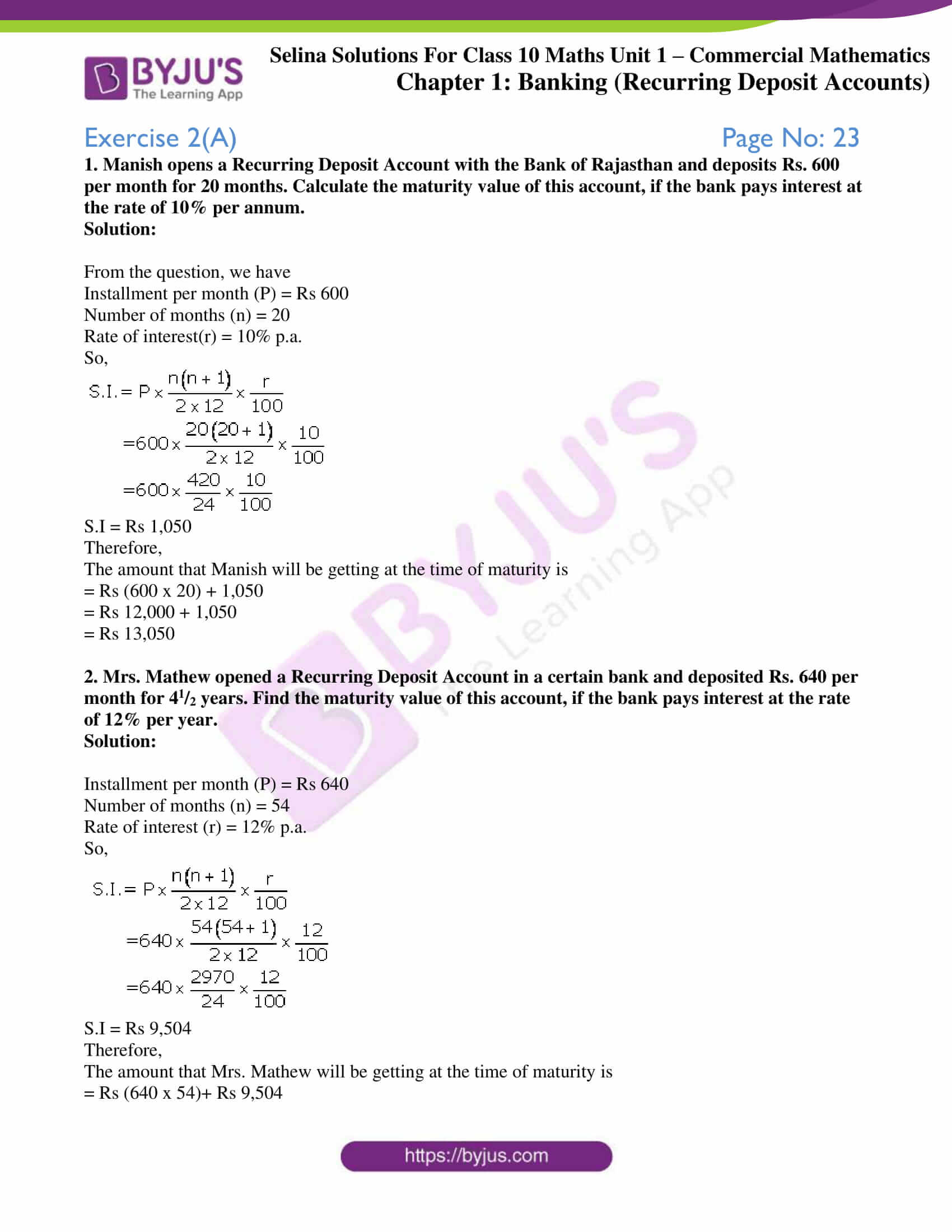 selina solution concise maths class 10 chapter 2 ex a 1