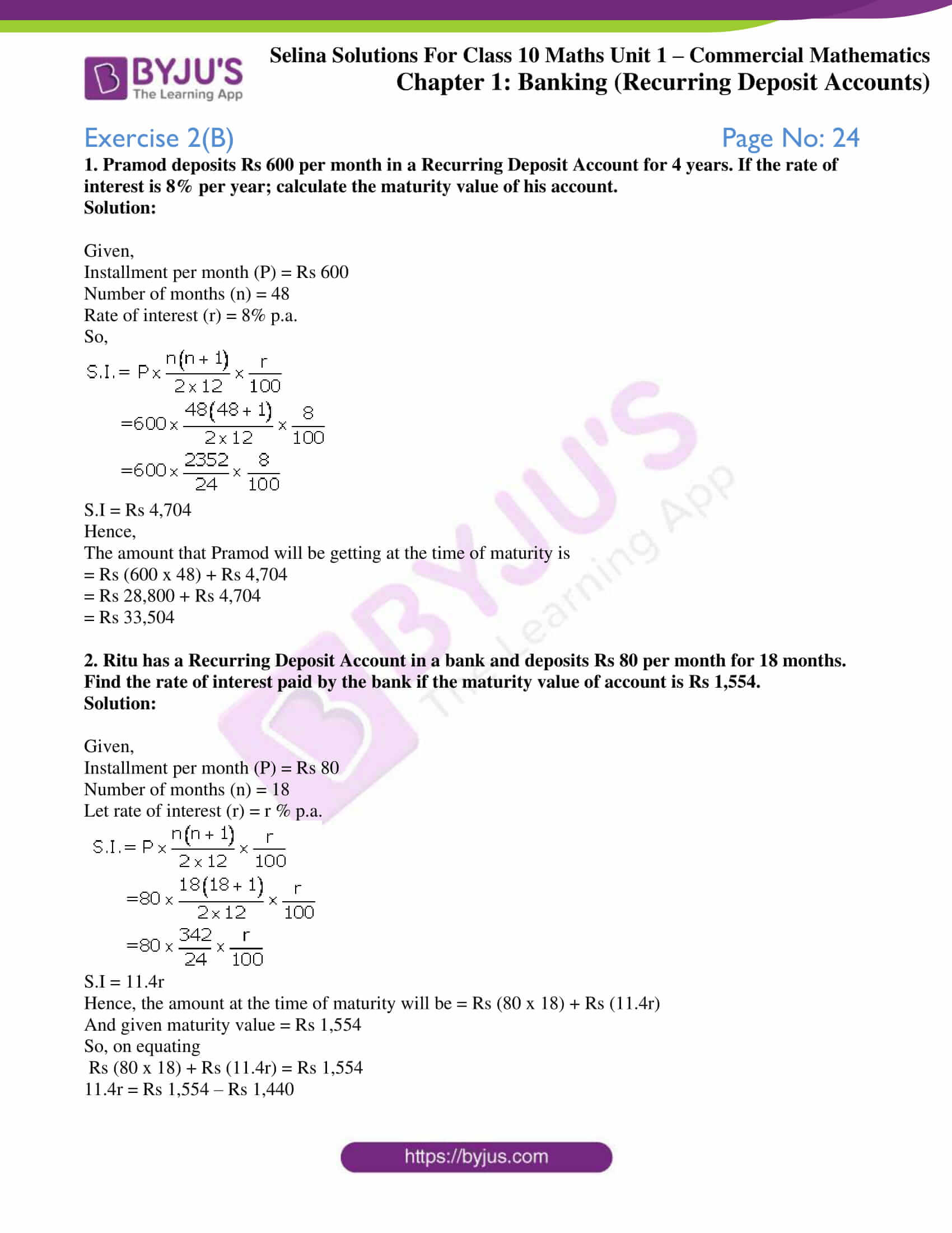 selina solution concise maths class 10 chapter 2 ex b 1