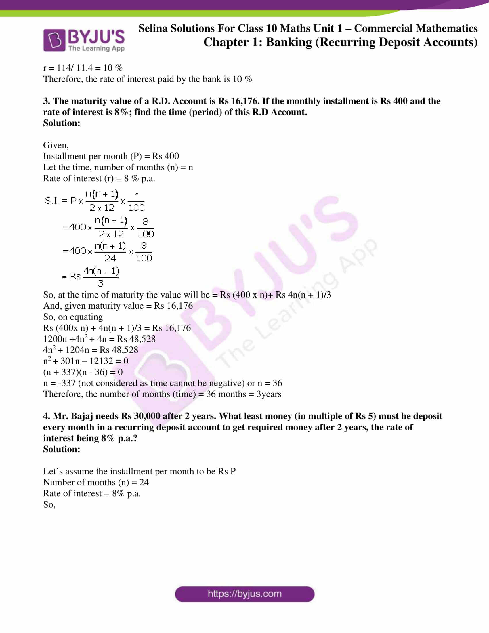selina solution concise maths class 10 chapter 2 ex b 2