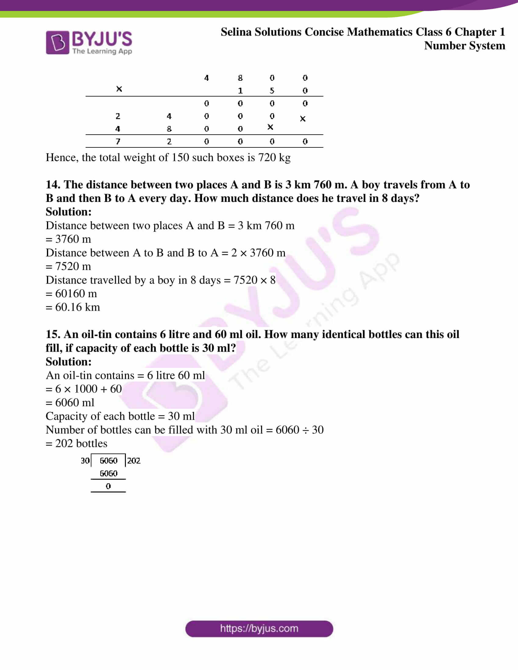 selina solution concise maths class 6 chapter 1 ex b 6