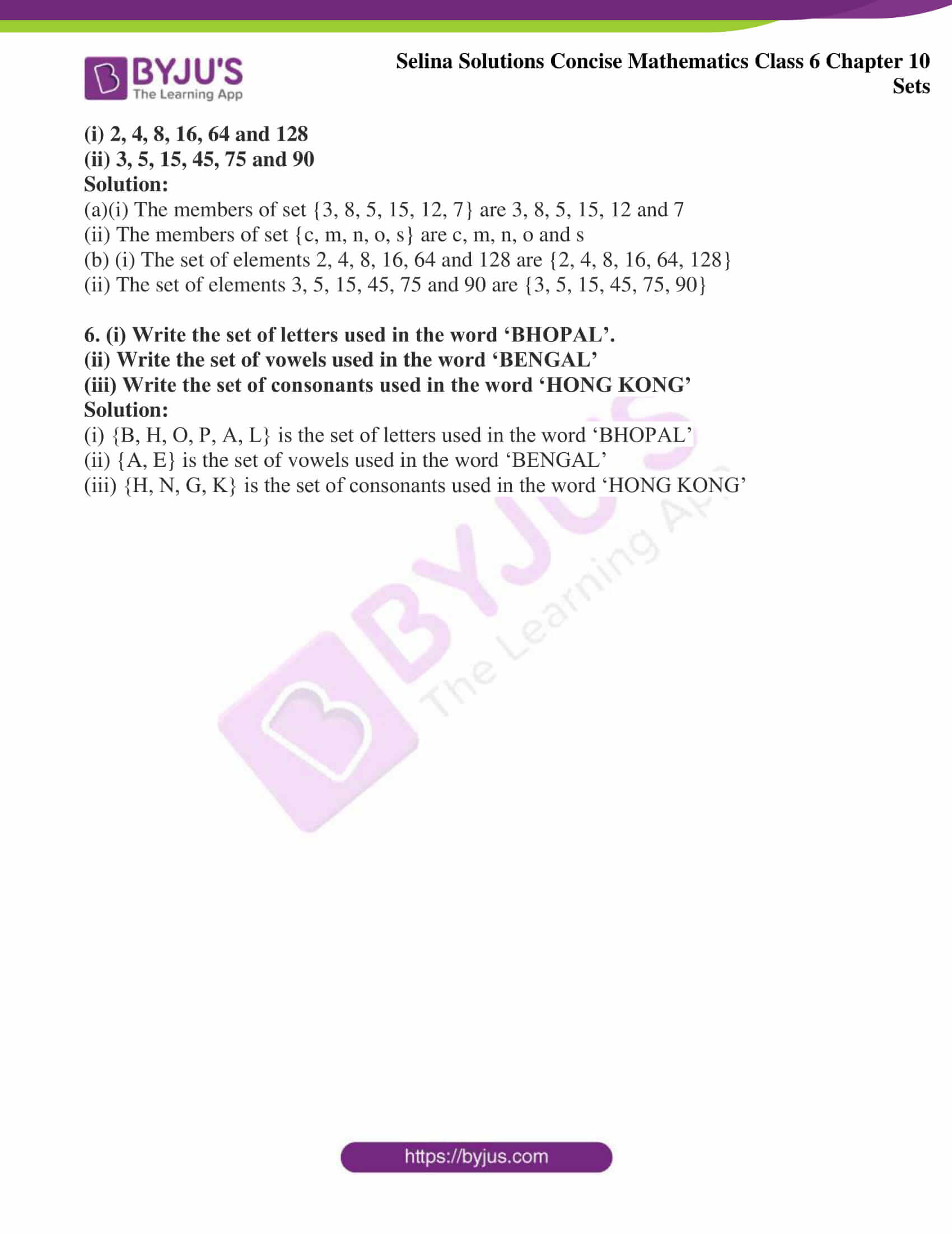 selina solution concise maths class 6 chapter 10 ex b 4