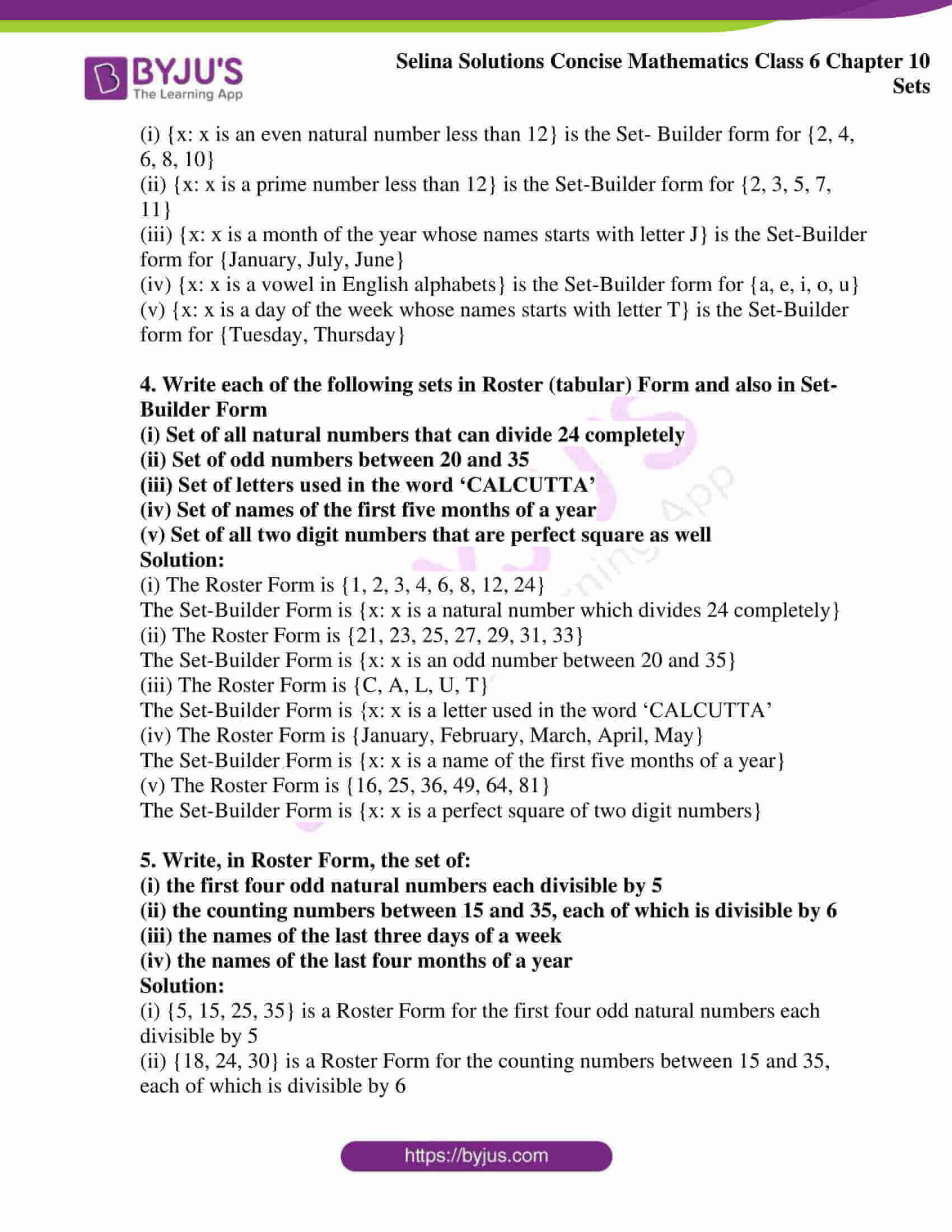 selina solution concise maths class 6 chapter 10 ex c 2