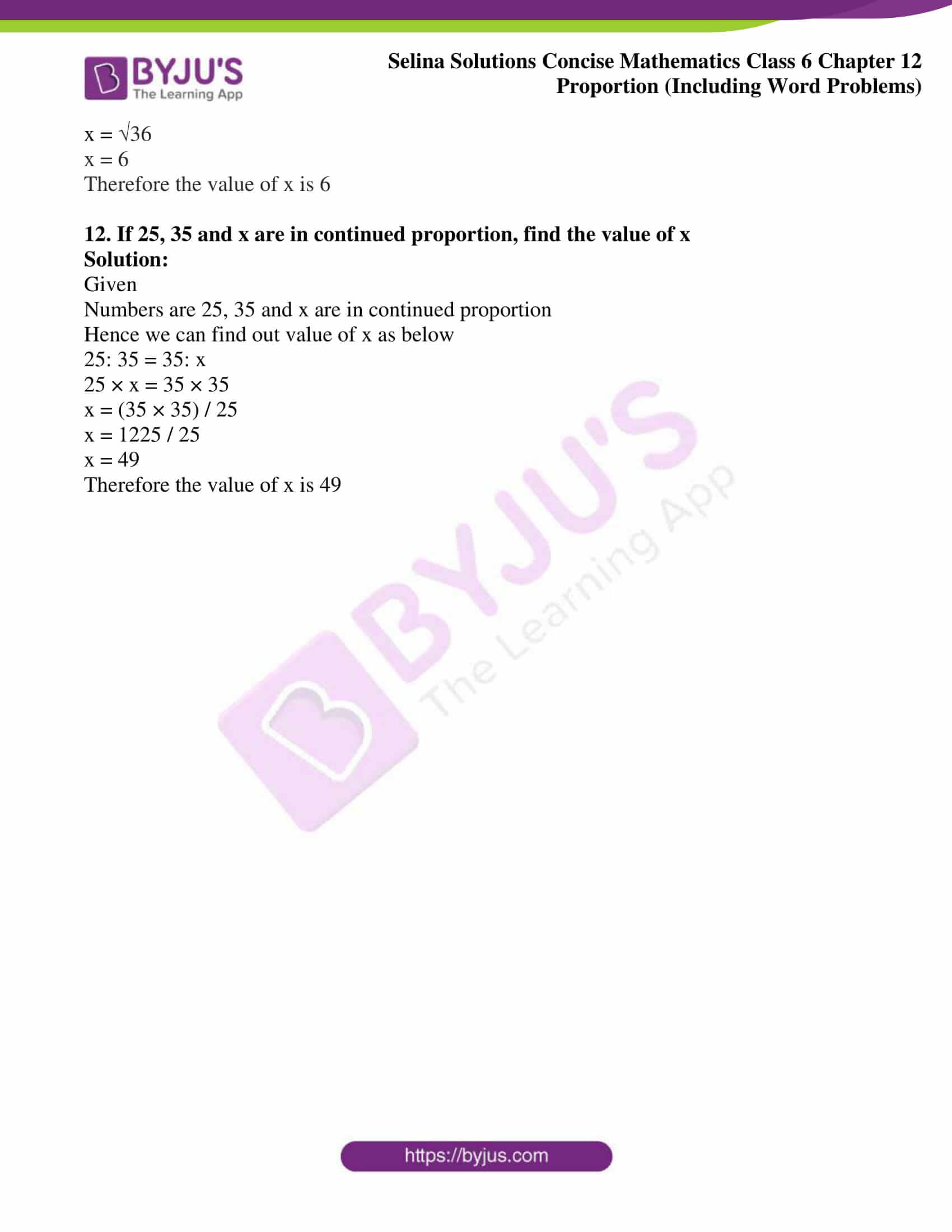 selina solution concise maths class 6 chapter 12 ex c 6