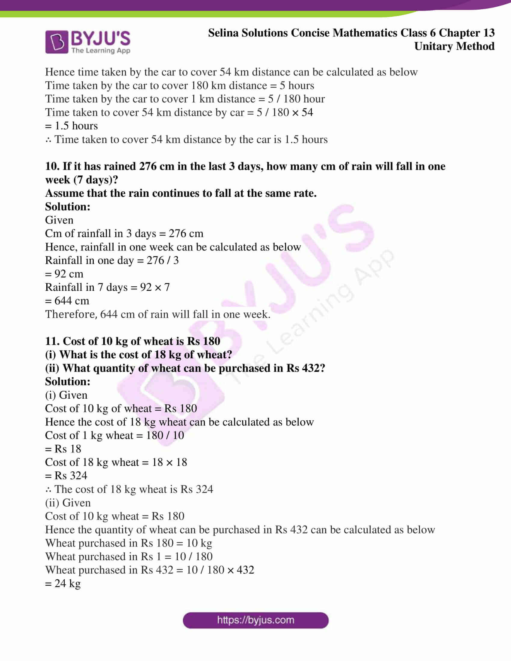 selina solution concise maths class 6 chapter 13 ex a 5