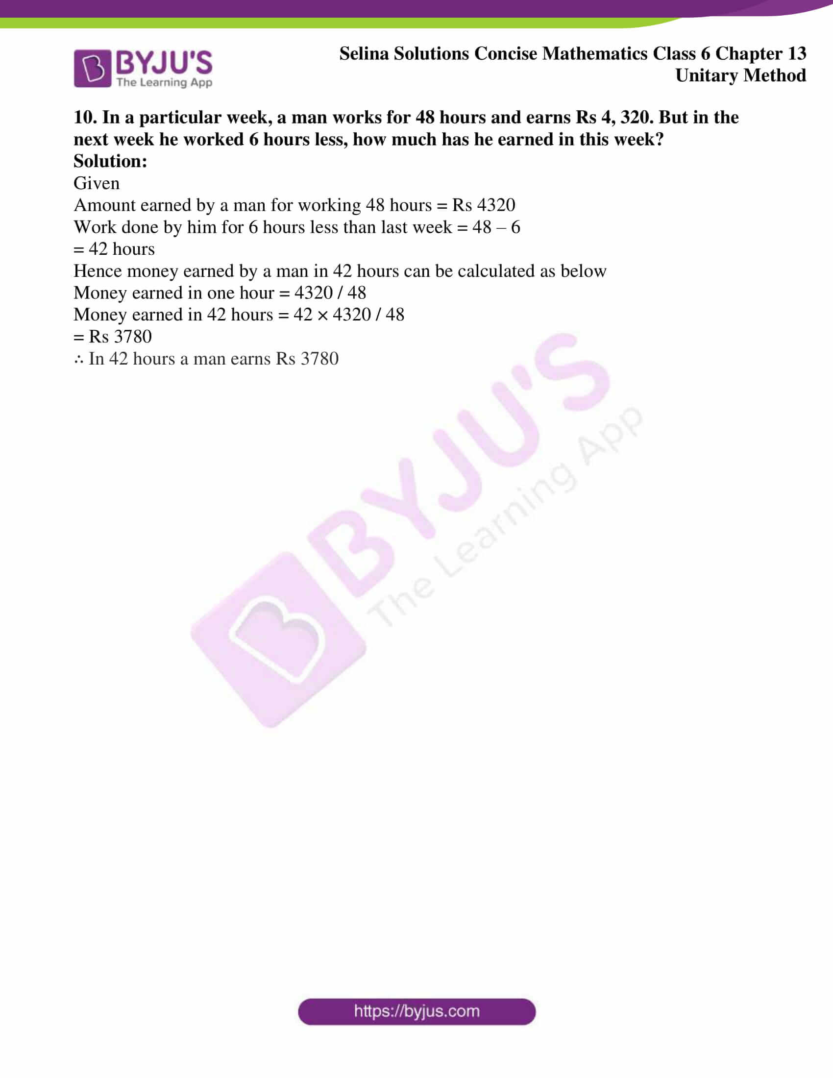 selina solution concise maths class 6 chapter 13 ex b 4