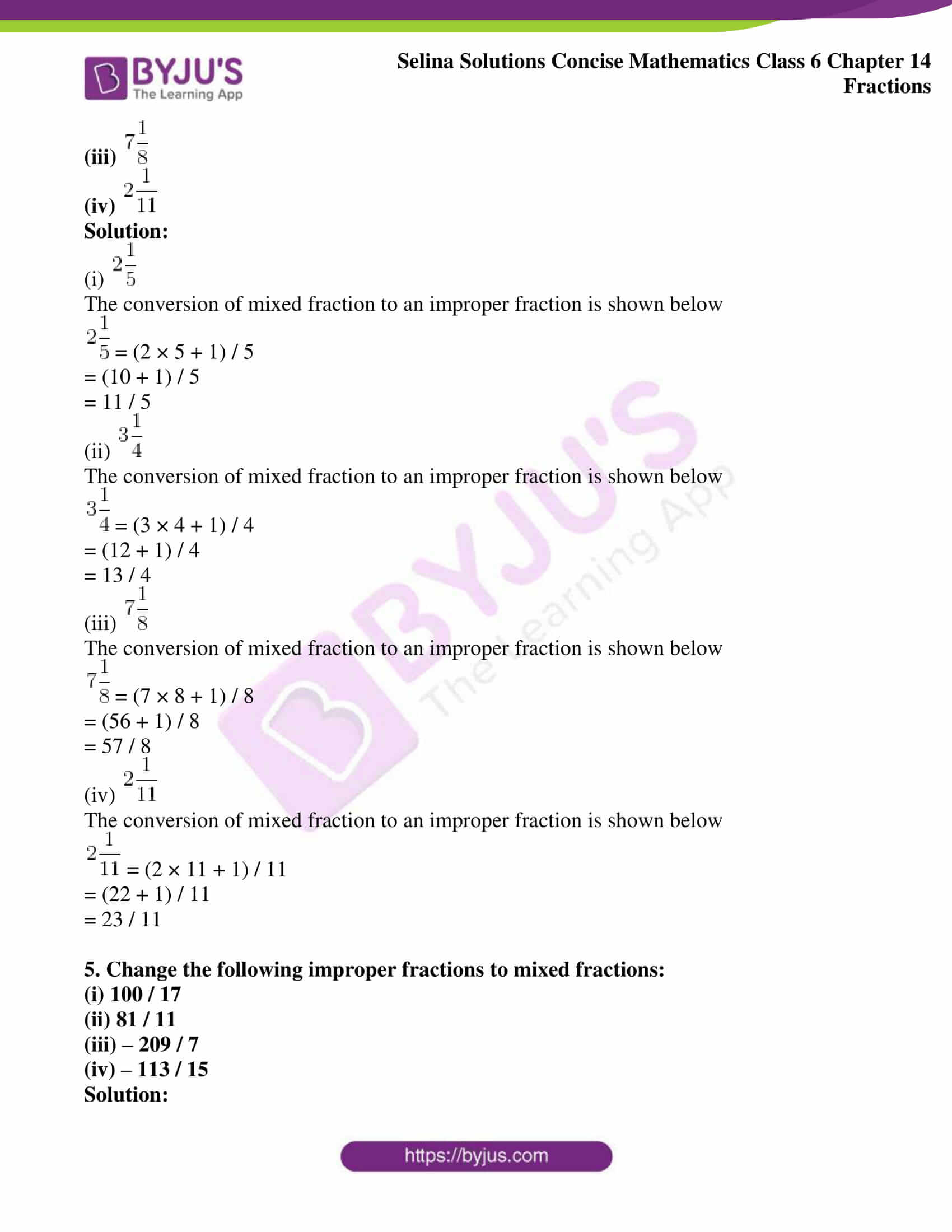 selina solution concise maths class 6 chapter 14 ex a 2