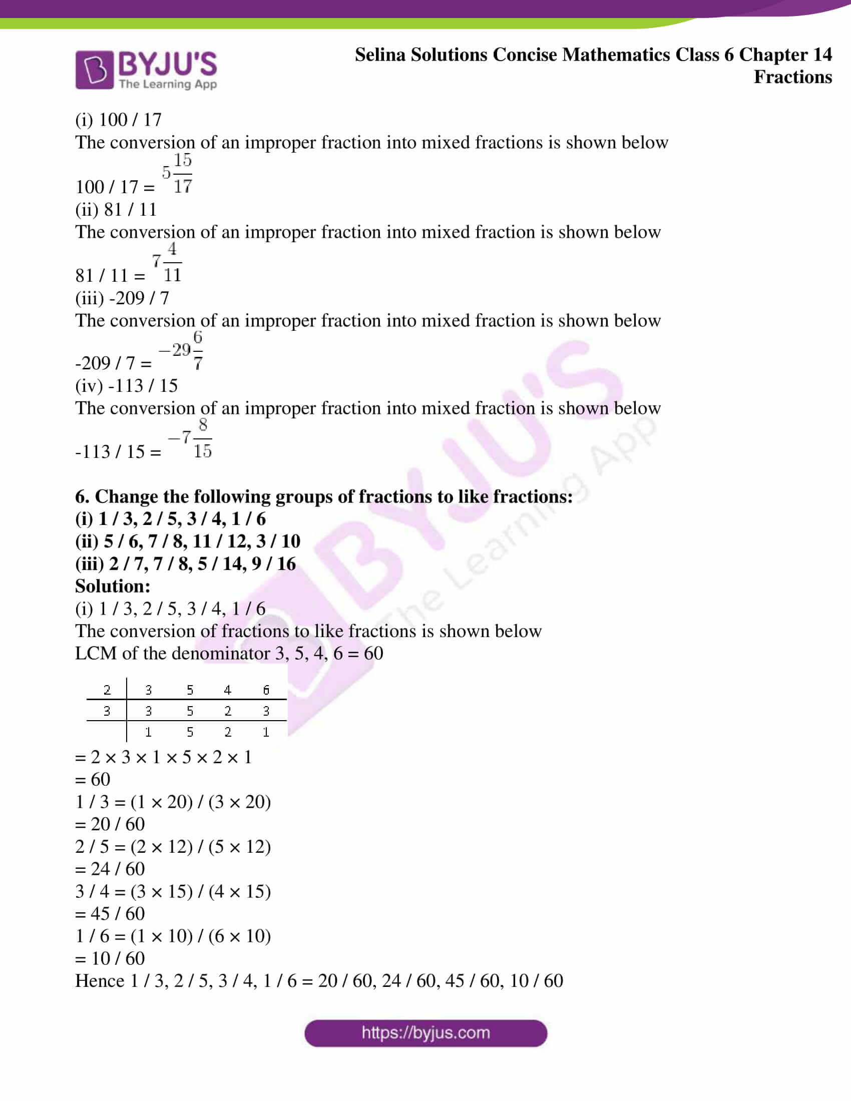 selina solution concise maths class 6 chapter 14 ex a 3