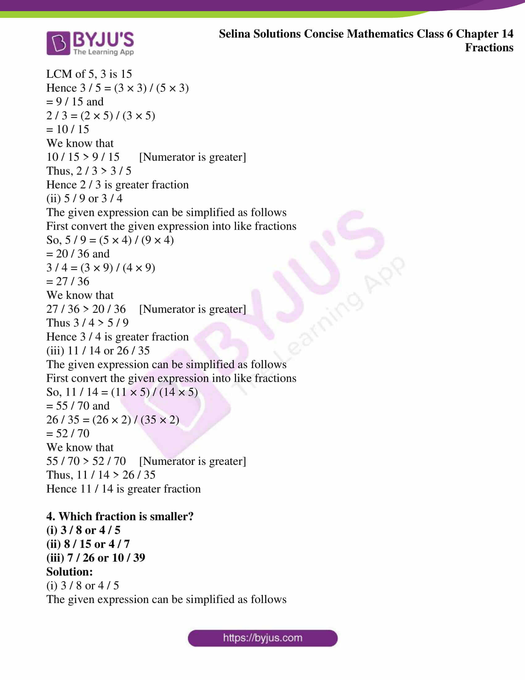 selina solution concise maths class 6 chapter 14 ex b 03