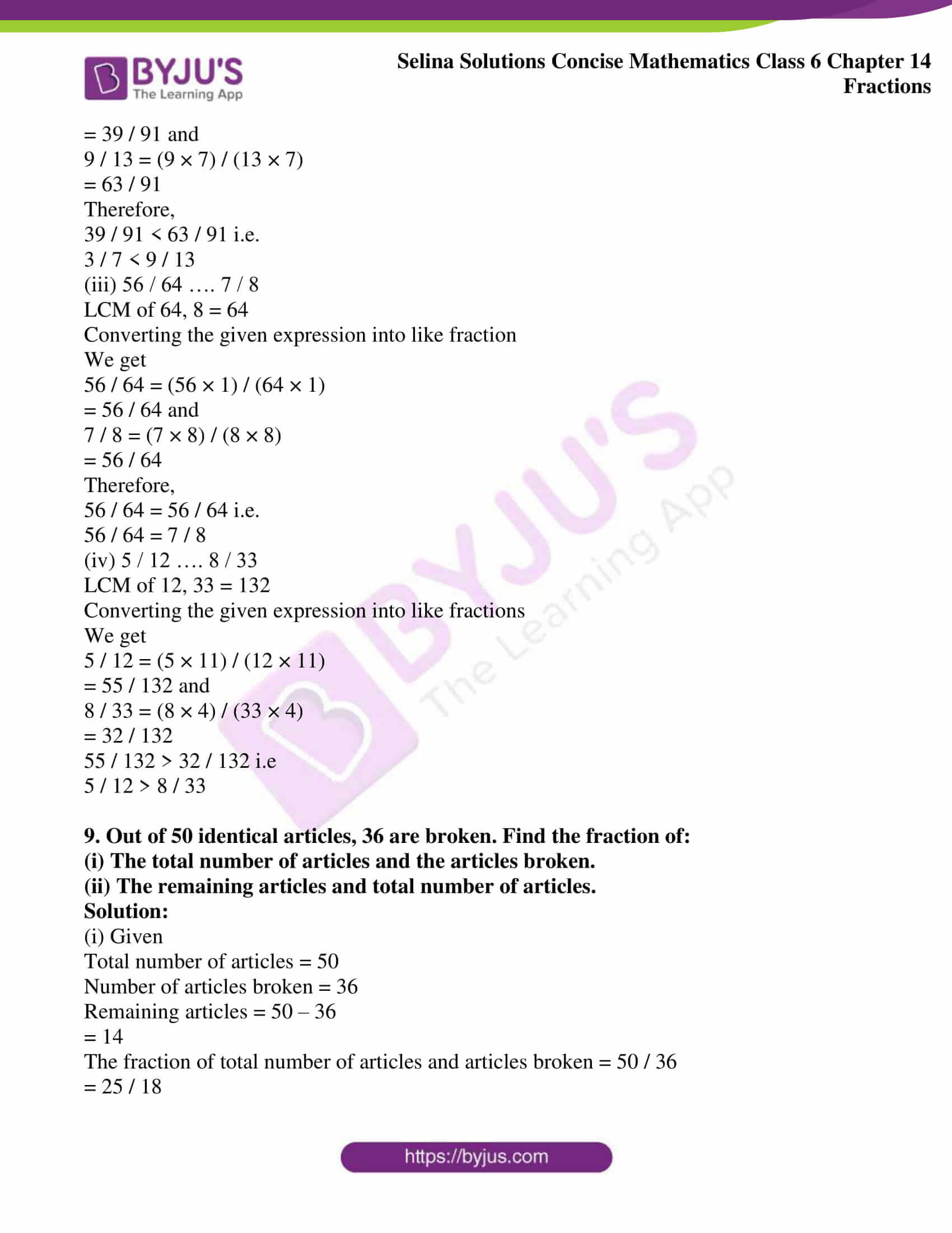 selina solution concise maths class 6 chapter 14 ex b 09