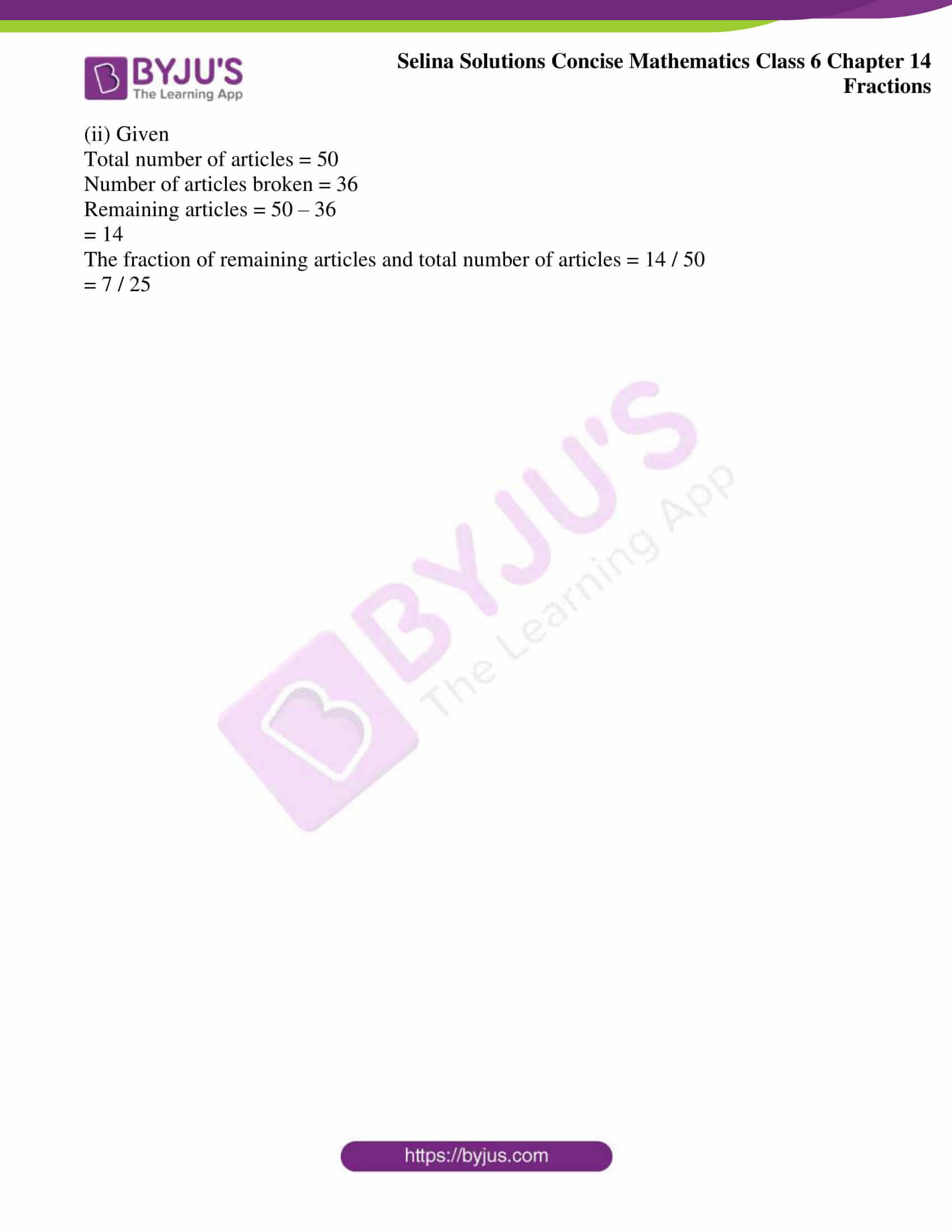 selina solution concise maths class 6 chapter 14 ex b 10