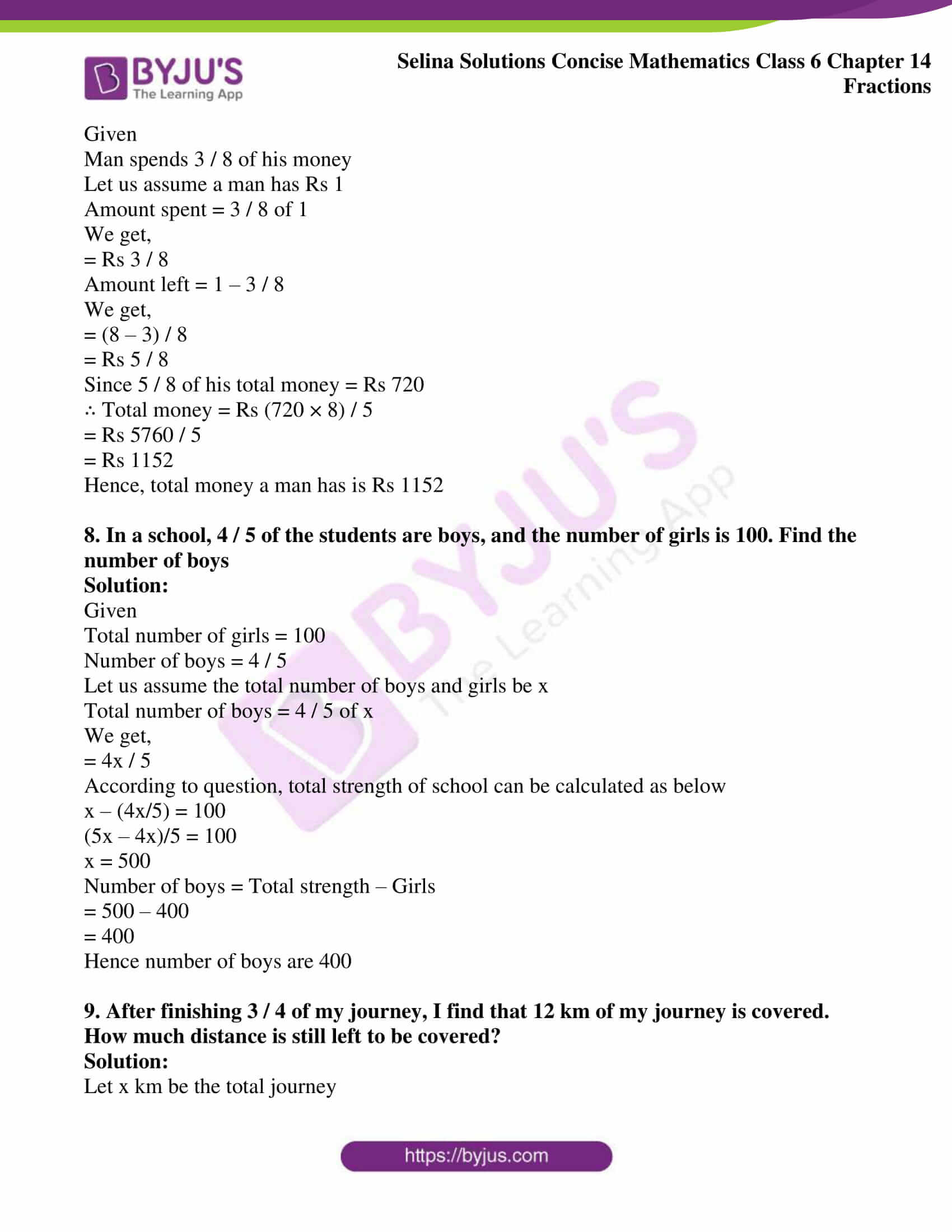 selina solution concise maths class 6 chapter 14 ex e 4