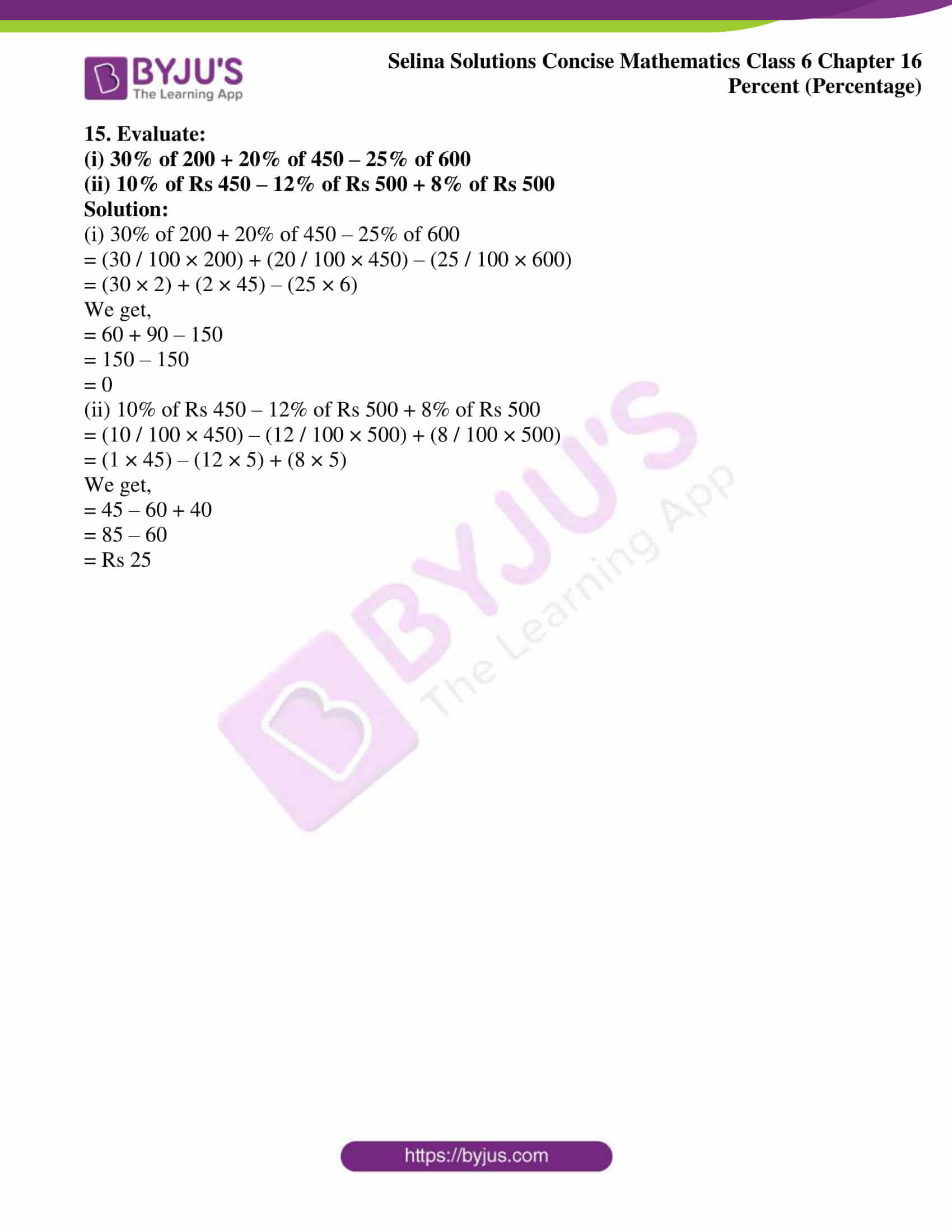 selina solution concise maths class 6 chapter 16 ex b 8