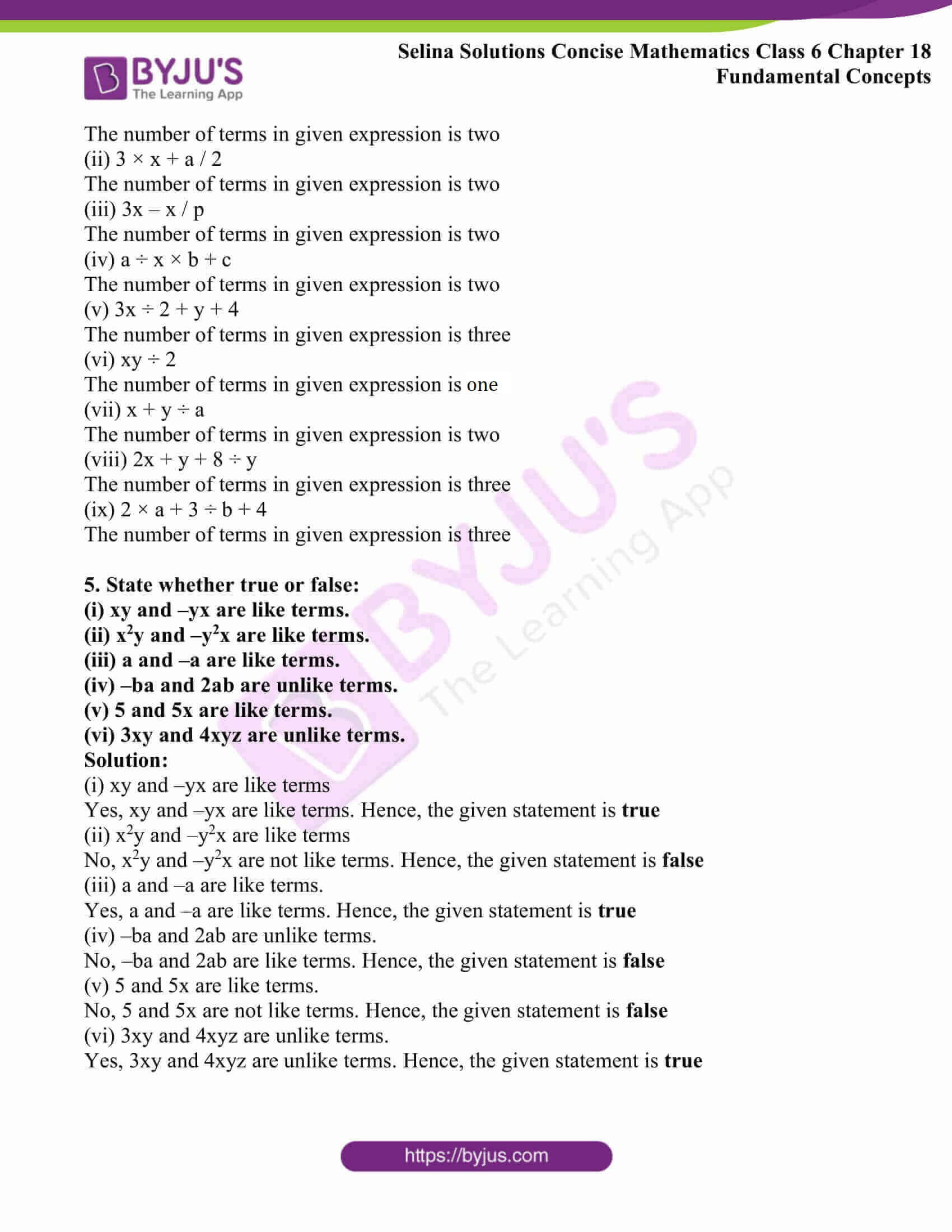 selina solutions concise math class 6 chapter 18 ex b 3