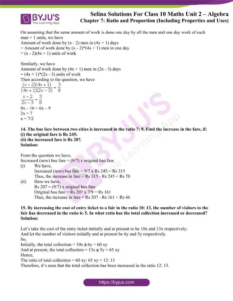 selina solutions concise maths class 10 chapter 7a
