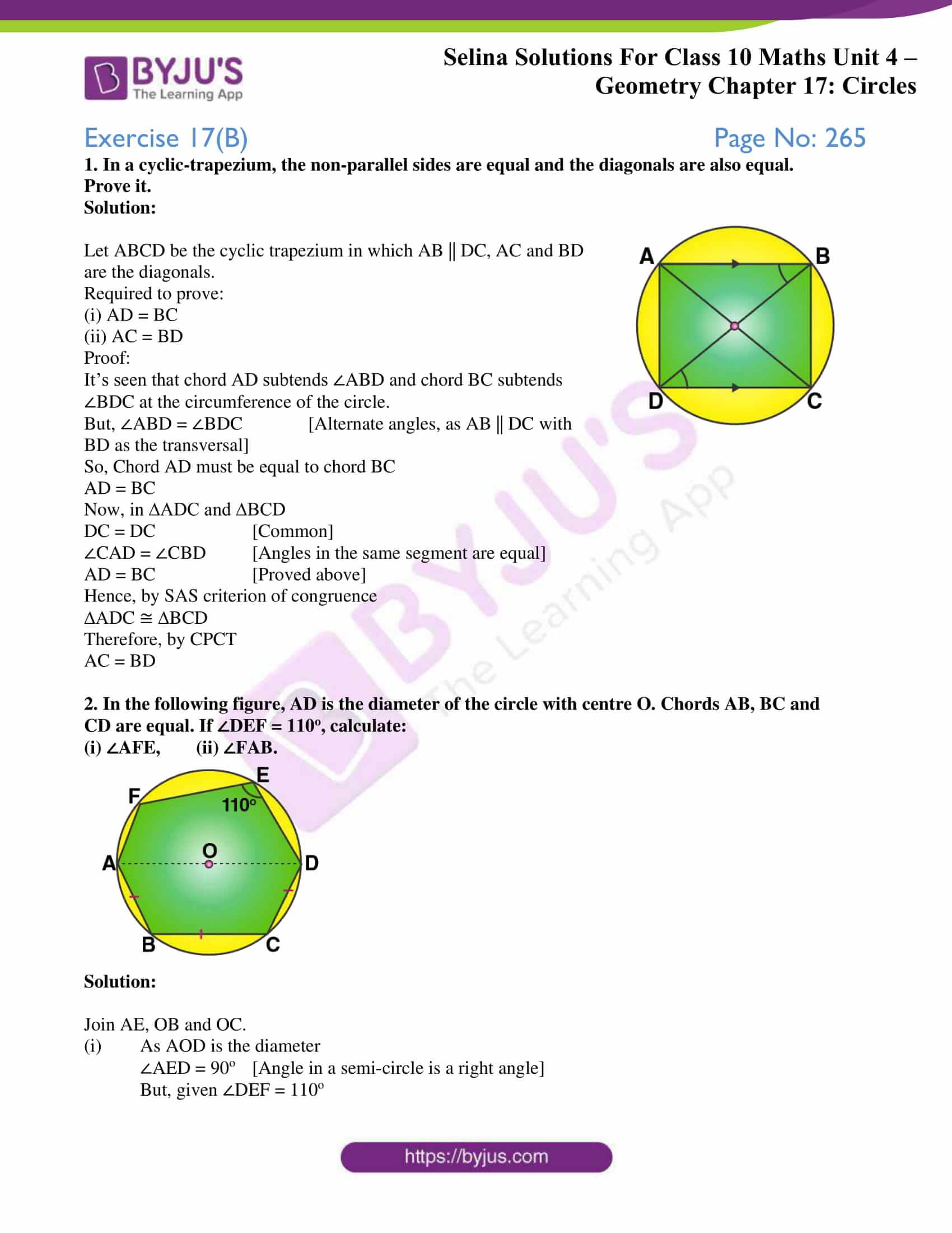 Selina Solution Maths Class 10 Chapter Exercise B 1
