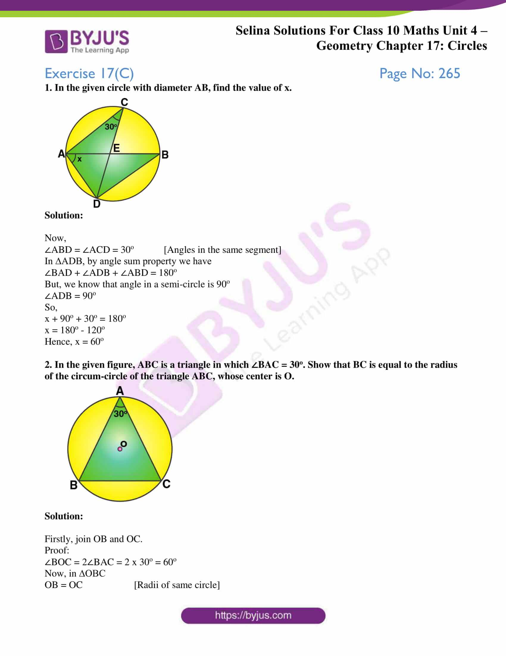 Selina Solution Maths Class 10 Chapter Exercise C 1