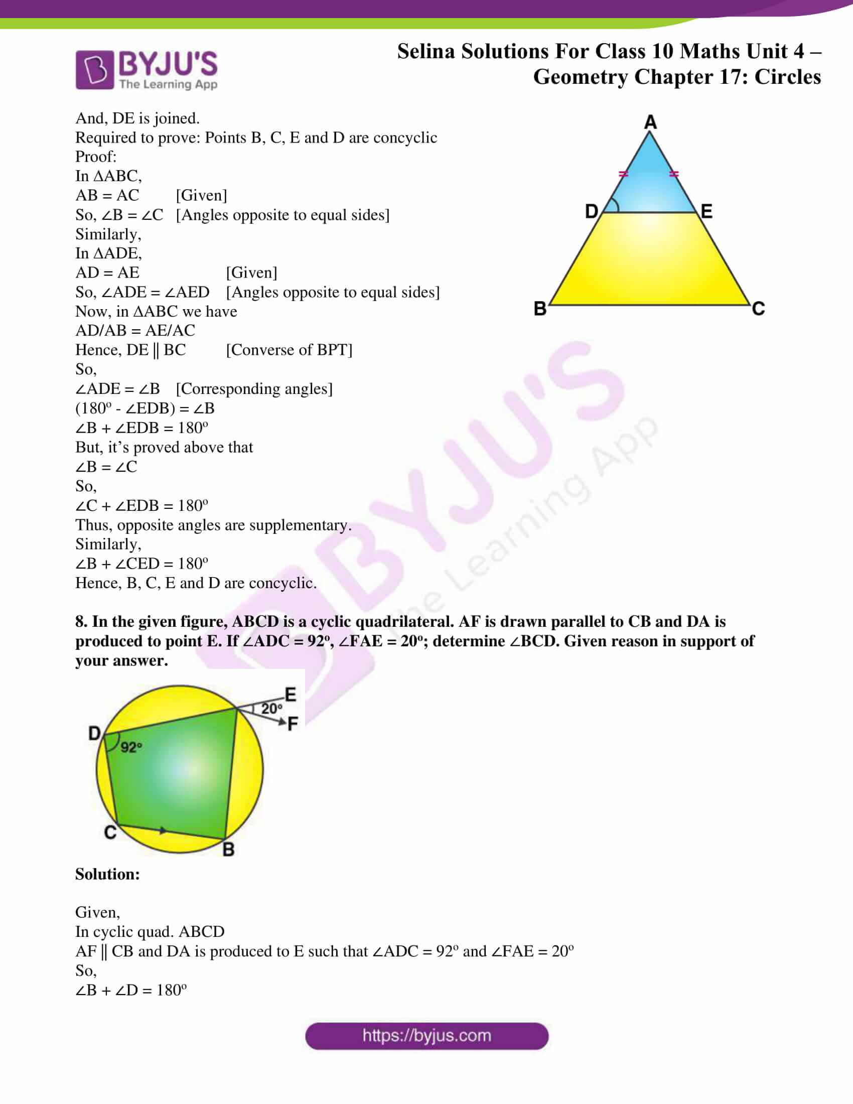 Selina Solution Maths Class 10 Chapter Exercise C 5