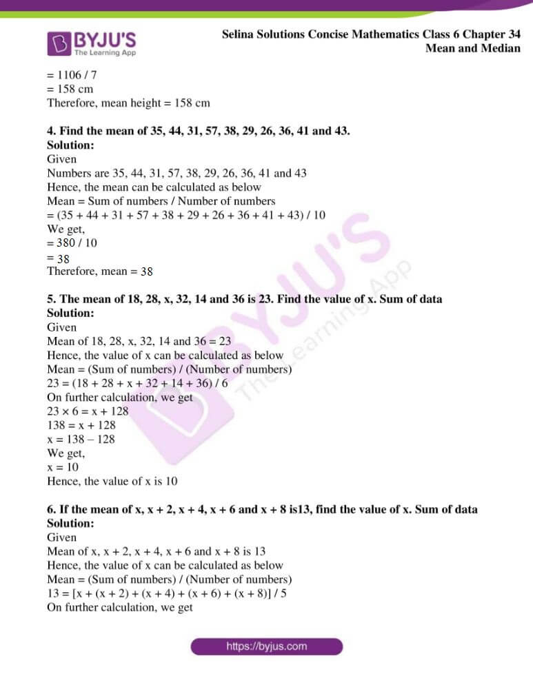 selina solutions for concise mathematics class 6 chapter 34 ex a 4